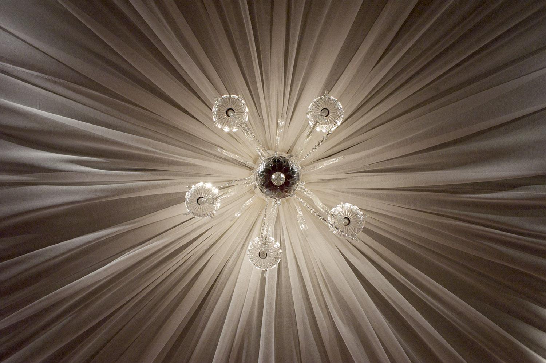 chandelier drape