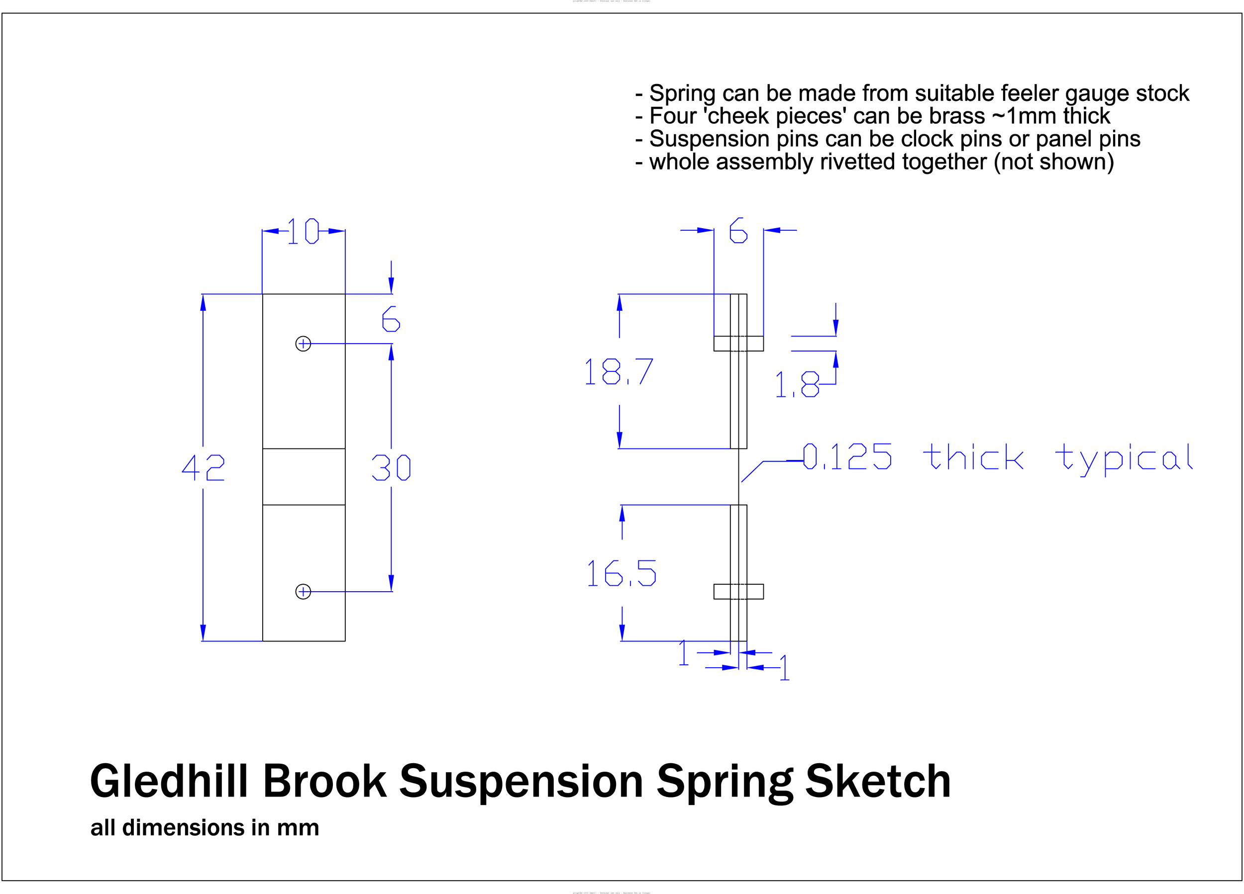 Thank you to Tony N, one of our visitors. He created this incredible diagram of a GB suspension spring. We get many questions about the dimensions of these, so hopefully this will help many of you out!
