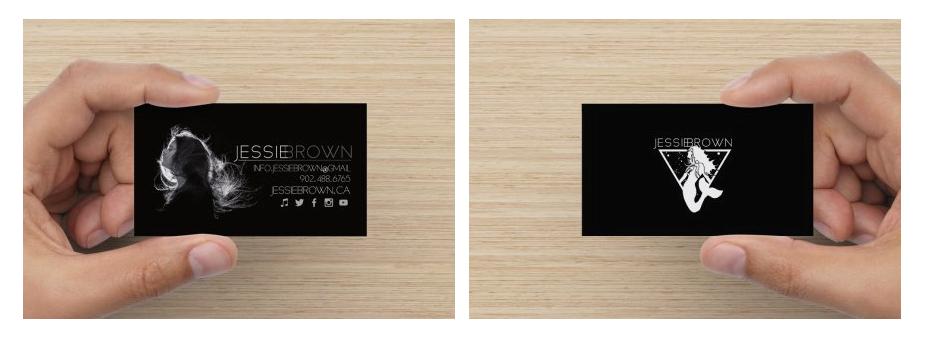 Business Cards: Back Logo Design by Abracazebra