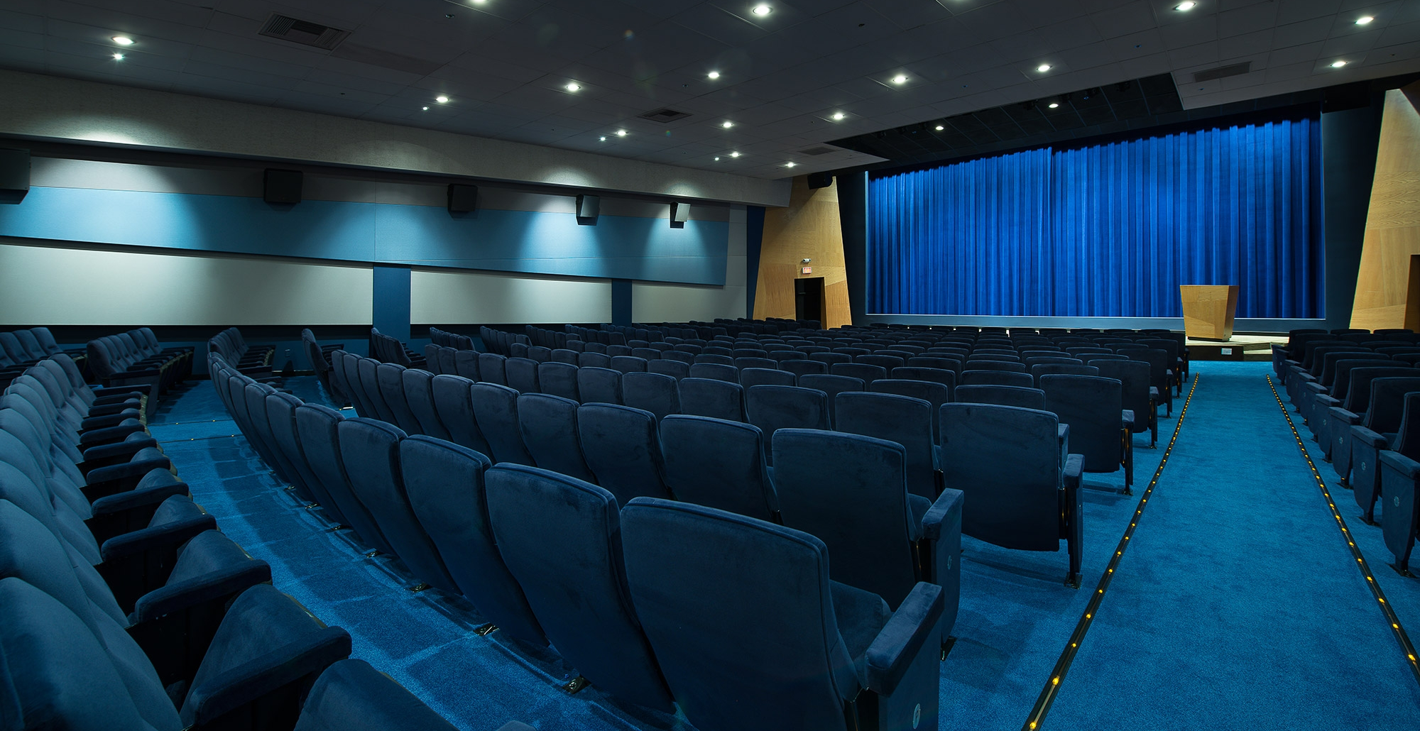 The elegant and newly renovated Writers Guild Theater is a 473-seat theater outfitted with top-of-the-line film, sound and digital projection systems.