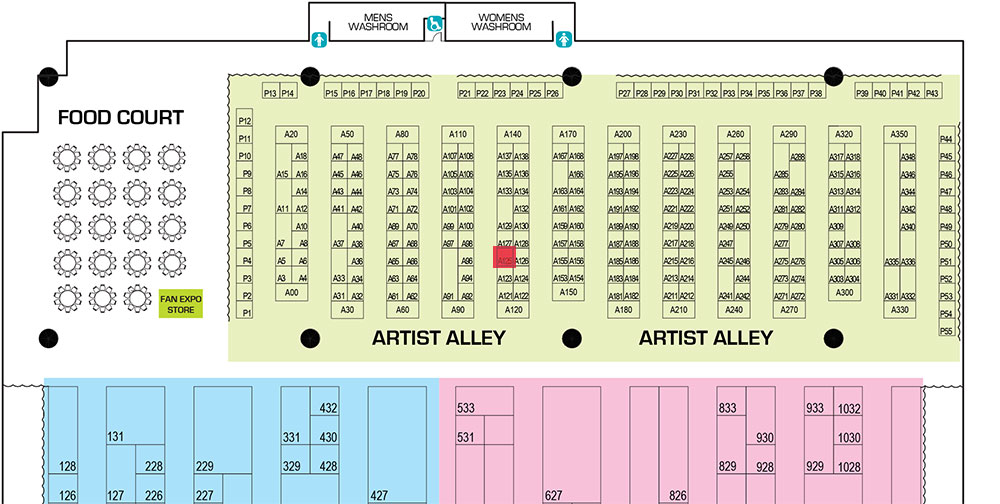 Toronto Comicon 2016 Floorplan