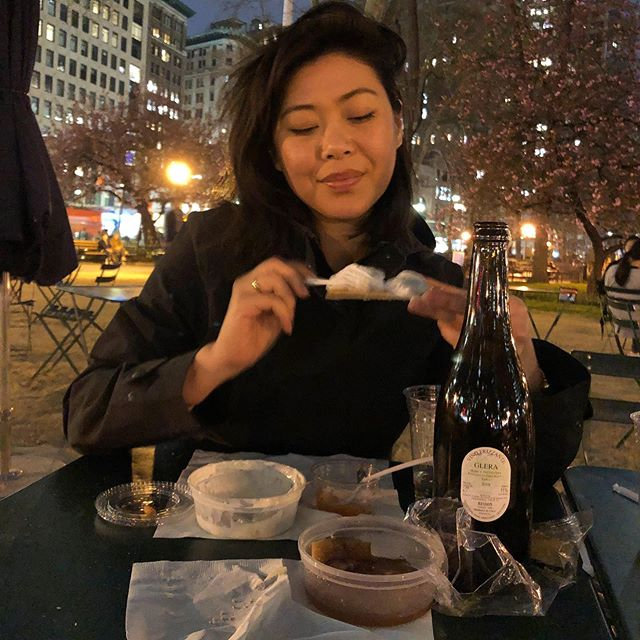 Looking forward to another evening picnic in the city. I'll bring the pickled herring!!! #russanddaughters #eataly #ladyfoodface #alfrescodining #nightpicnic