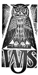 "Linocut ""The Owl"" by S. Gliwa from WJS's A Guide to Democratic Jargon"