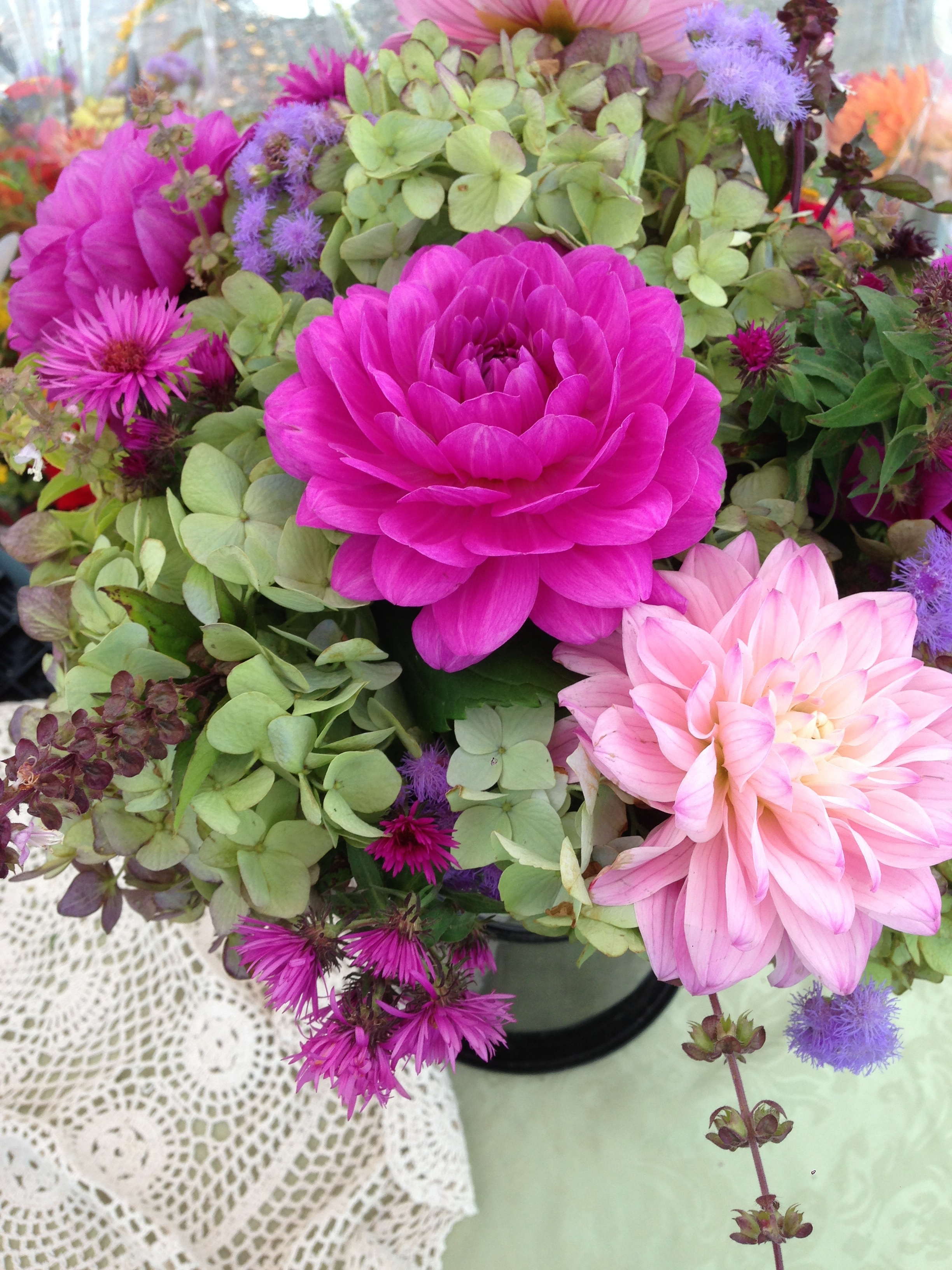 """As everything """"tones down"""" for Fall, we find such lovely hues of purple, blue, lavender, and green."""