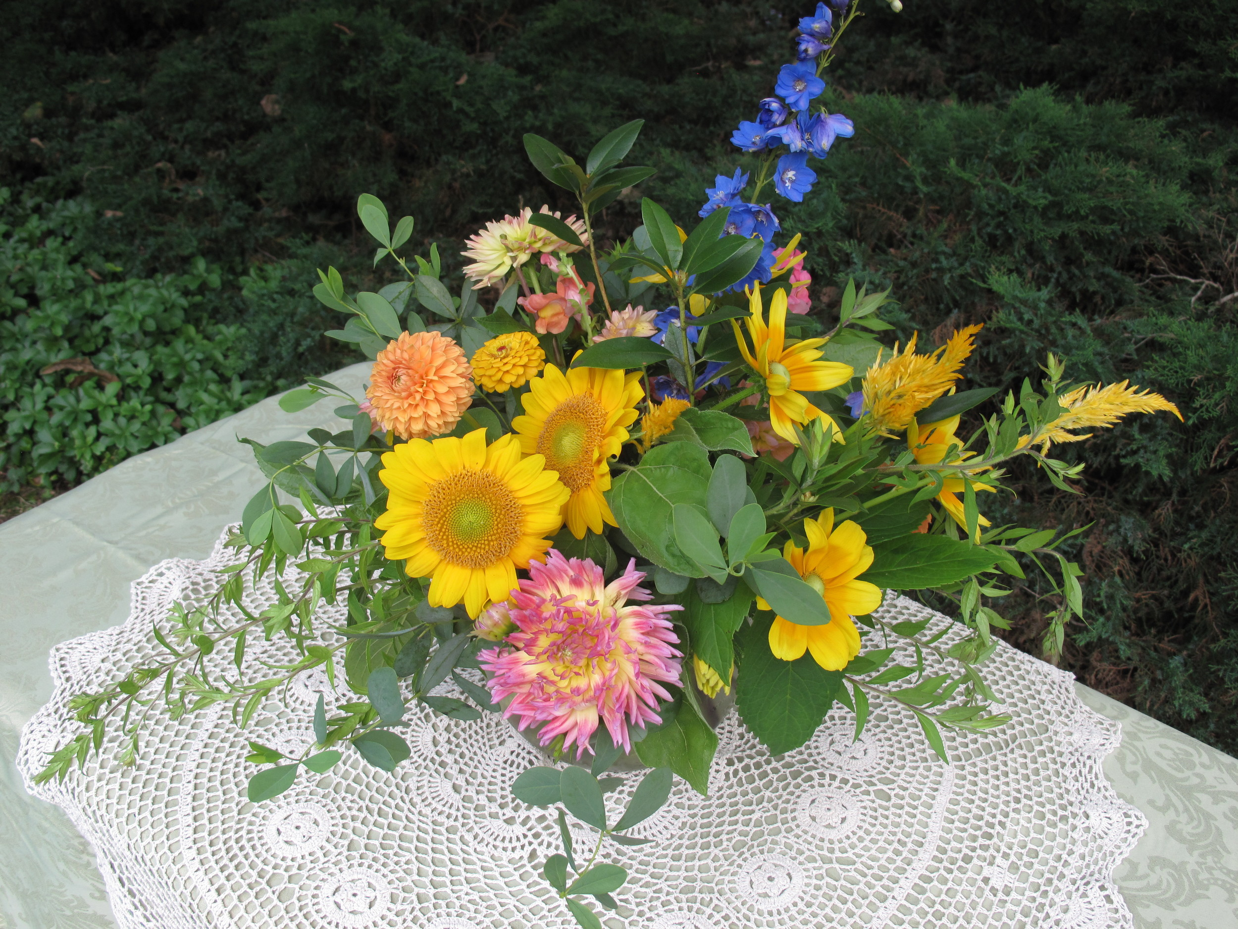 A splash of color to a summer bouquet