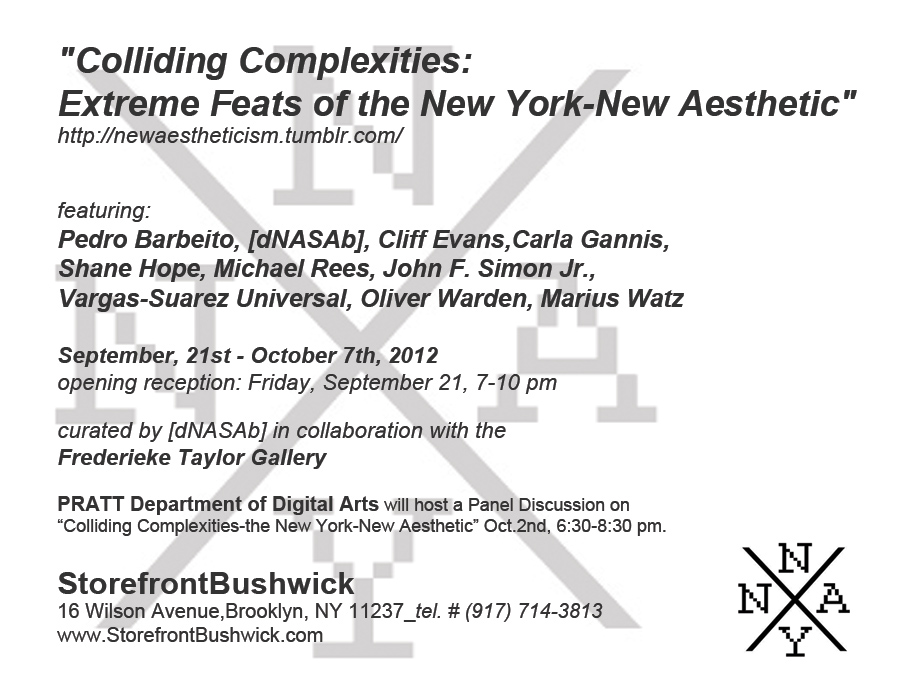 Colliding Complexities Friday September 21, 7-9pm