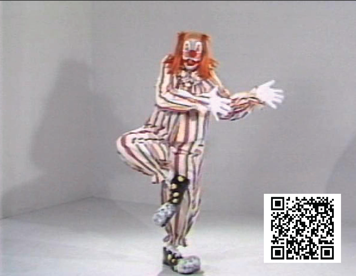Starting with an image from Clown Torture by Bruce Nauman