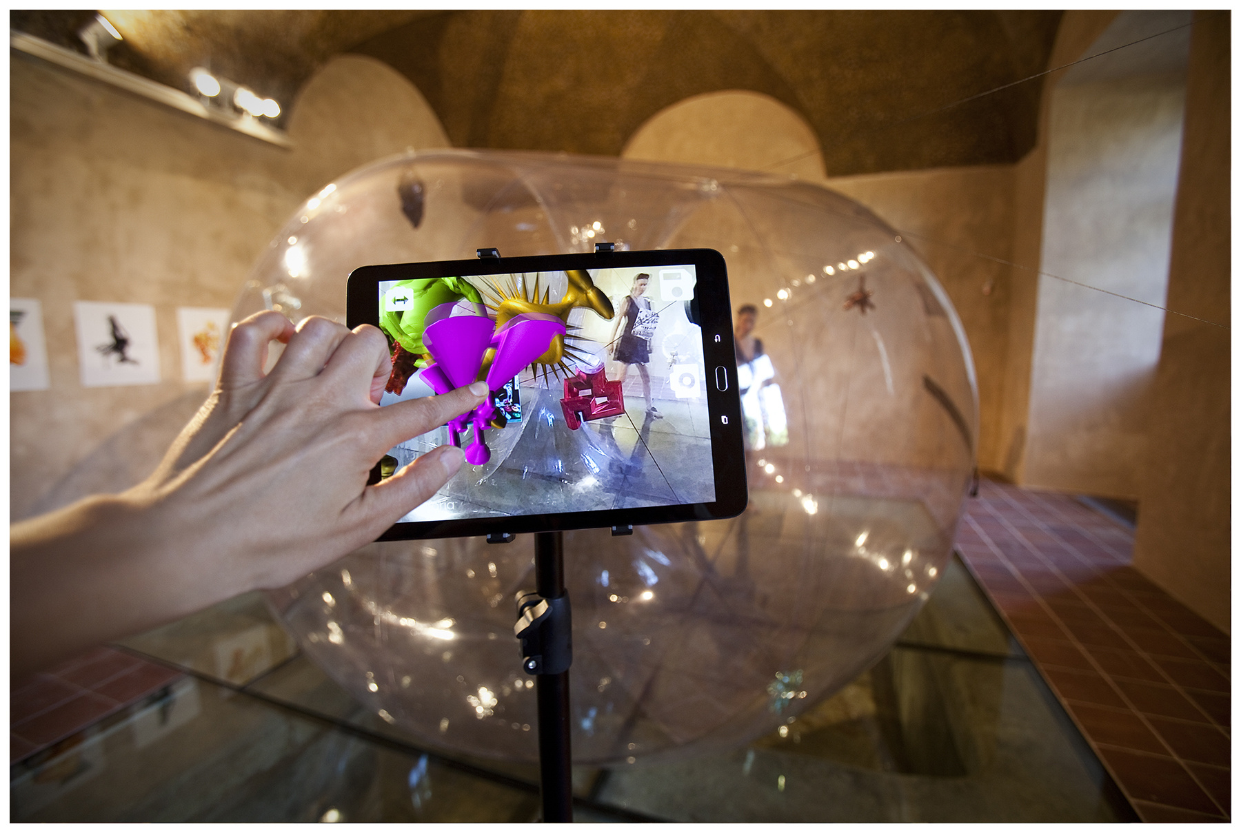Image showing interaction with tablet app.