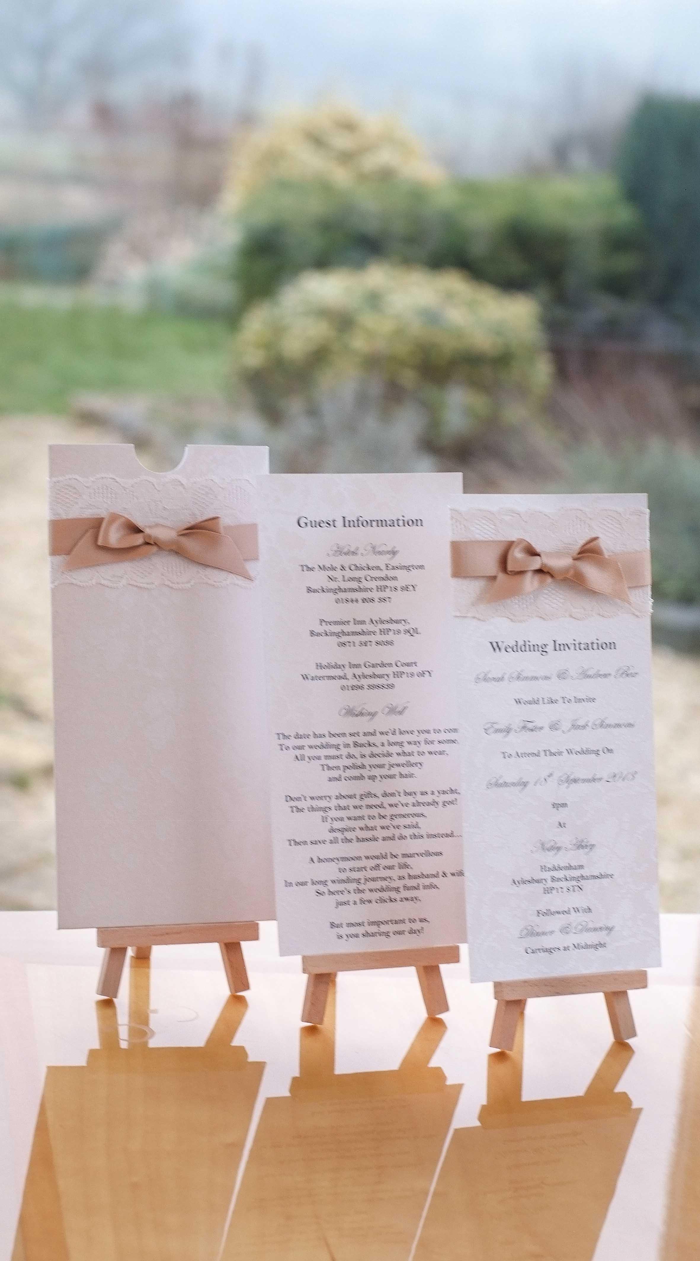 Heritage Lace wedding stationery