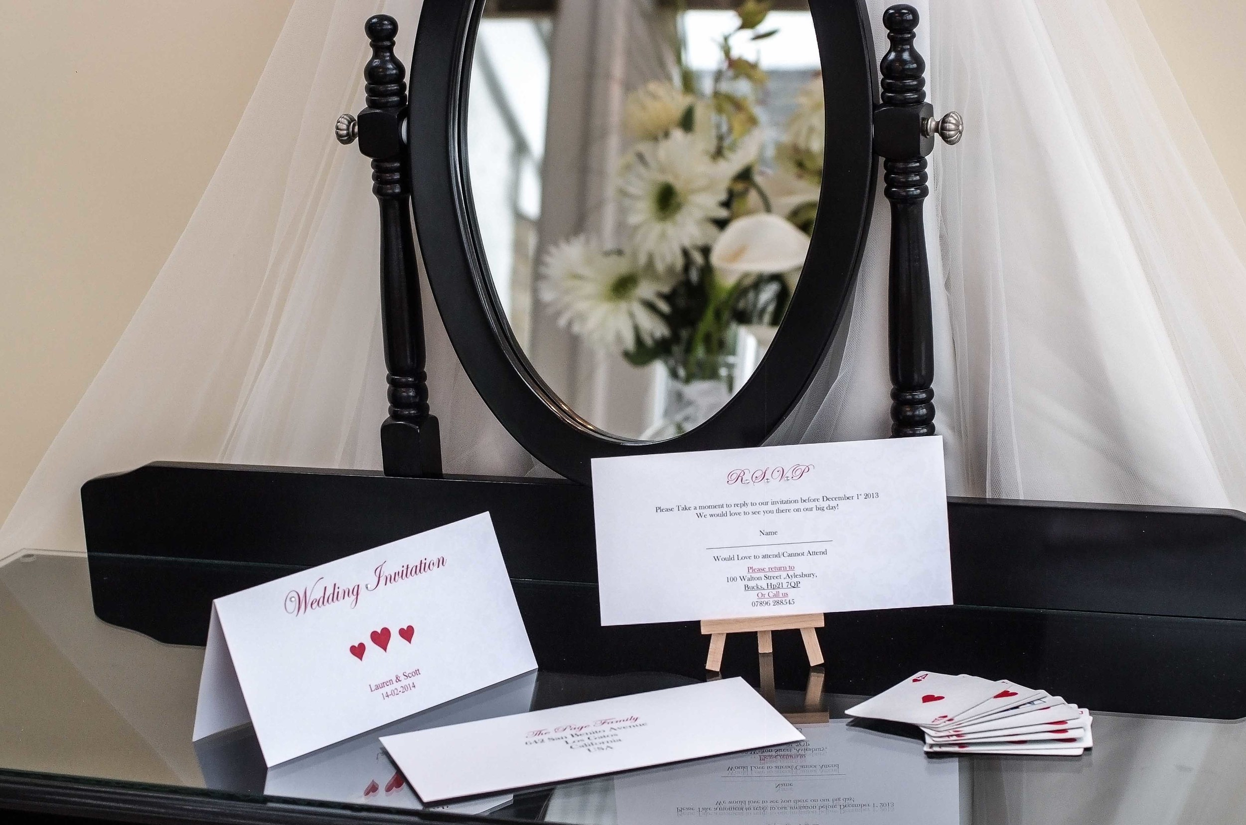Just one of the beautiful wedding invitation and stationery ranges available at VivienB's of Oxford, Oxfordshire. The VivienB's Filled With Love Collection.   Next Collection:  First Class Boarding