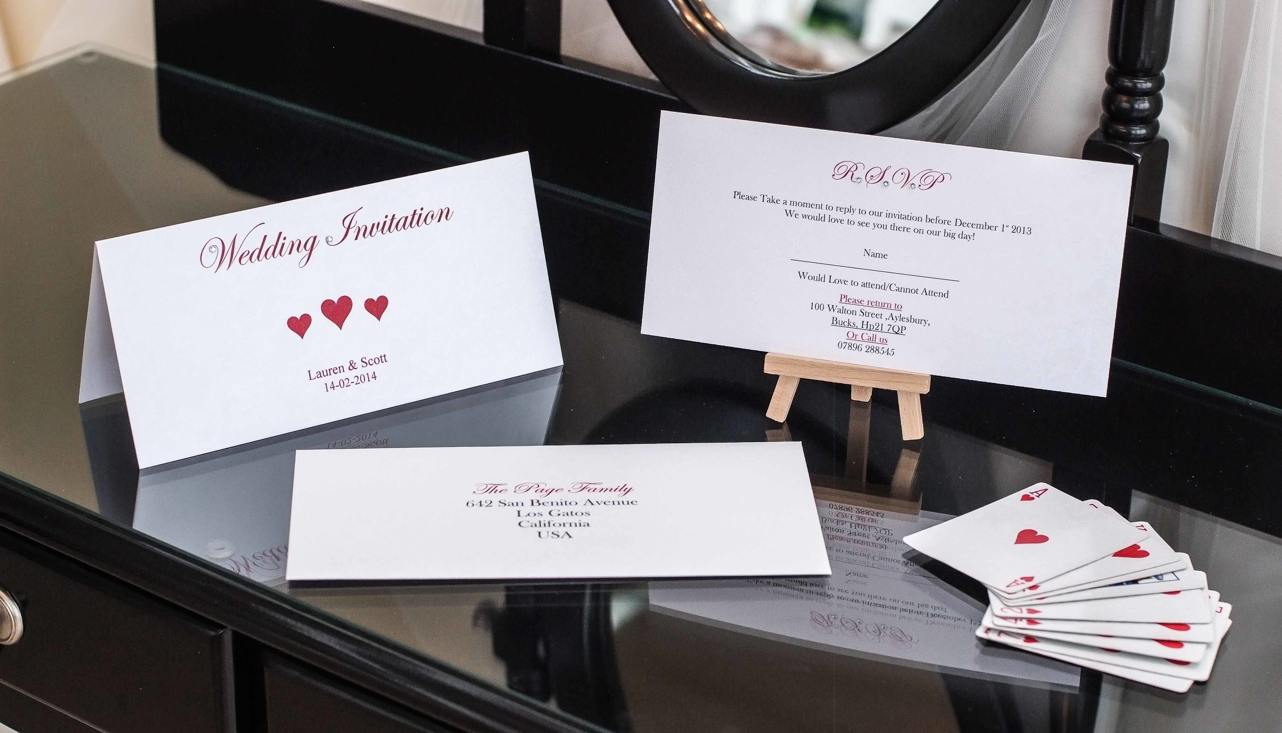 Filled With Love Wedding Invitation