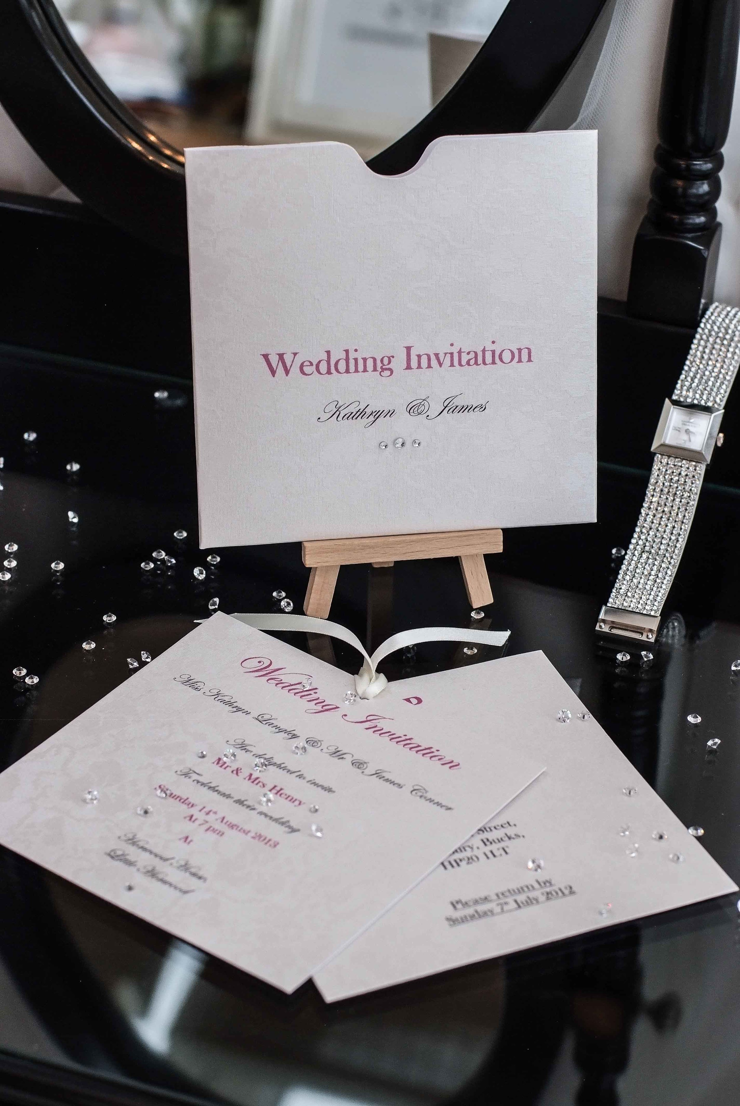 Just one of the beautiful wedding invitation and stationery ranges available at VivienB's of Oxford, Oxfordshire. The Audrey Collection from VivienB's.   Next Collection:  All You Need Is Love