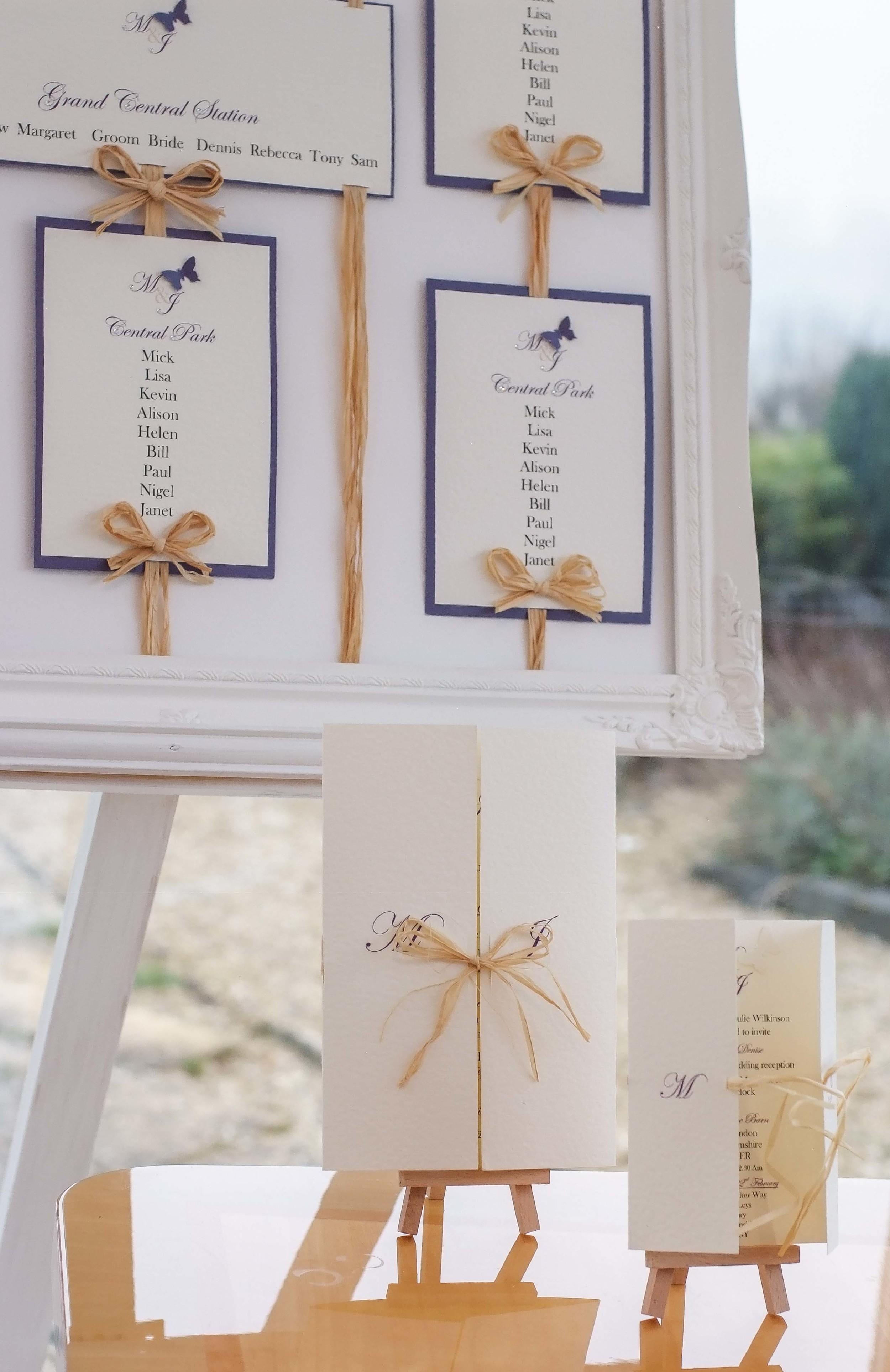 Cadbury's Purple Rustic Wedding Invitation in the Rustic Elegance collection from VivienB's
