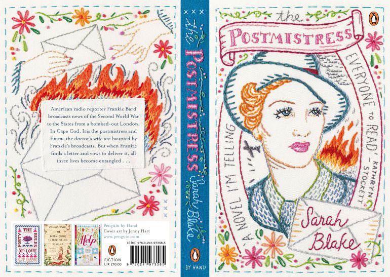 The Postmistress,   2016, book cover (front / back / spine) Penguin Books (UK)