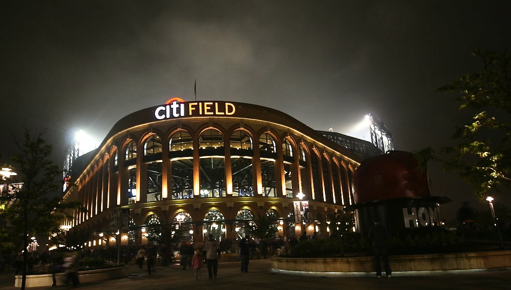 Citi Field glowing in victory