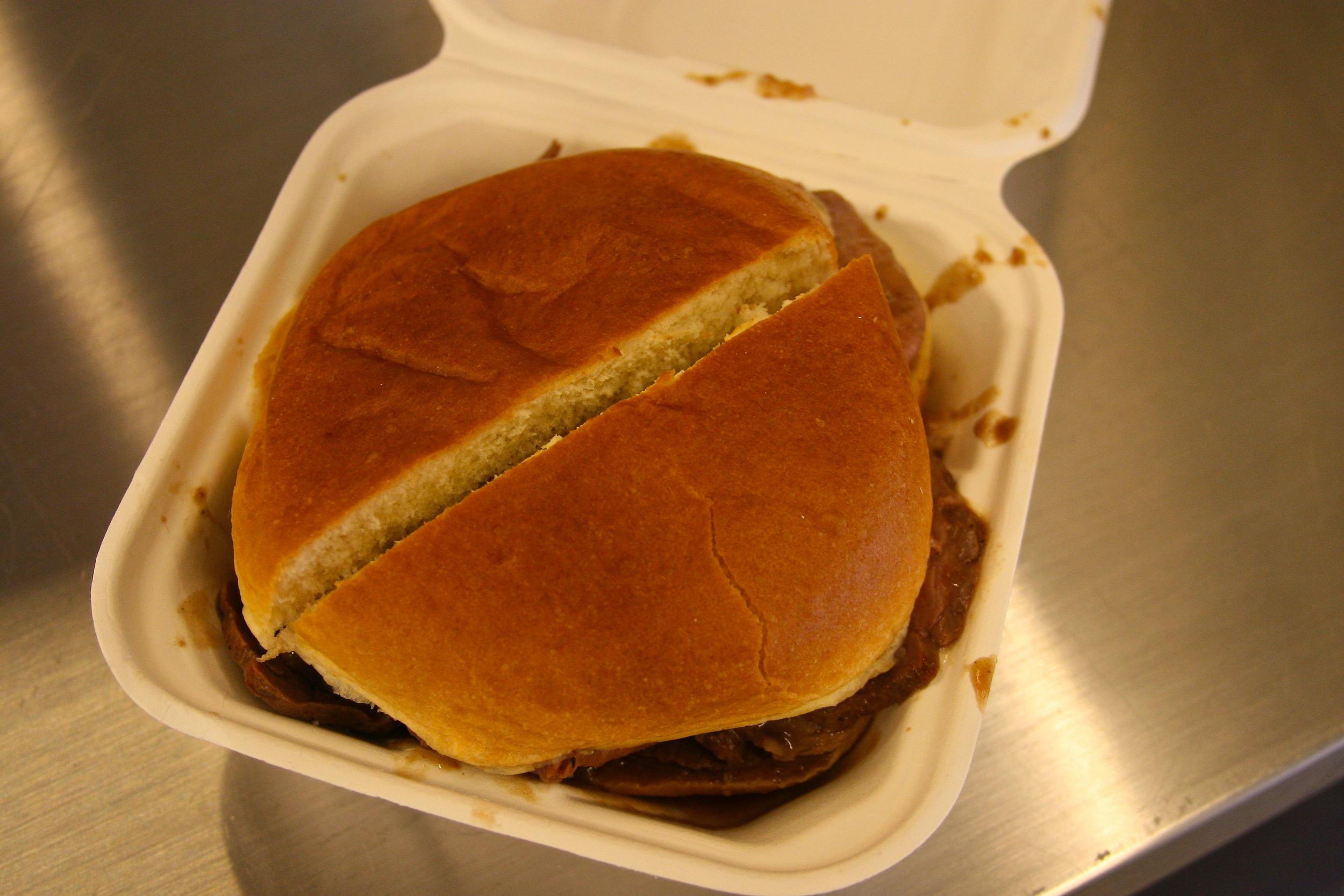 Lobel's steak sandwich