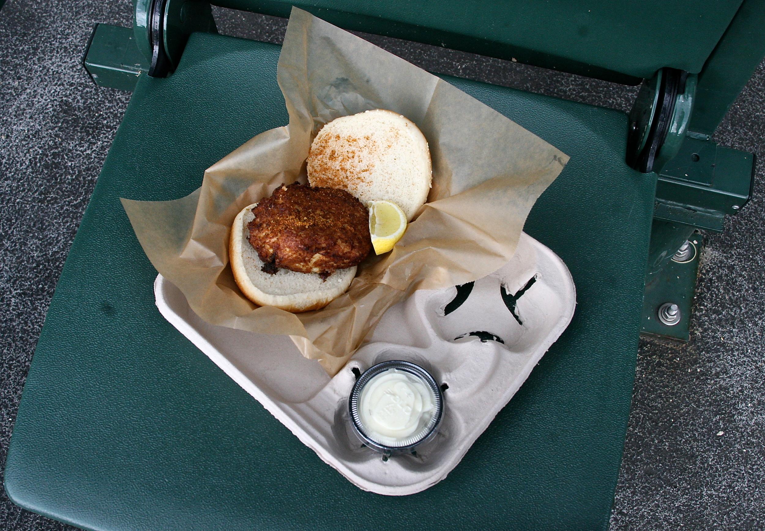 My delicious crab cake sandwich