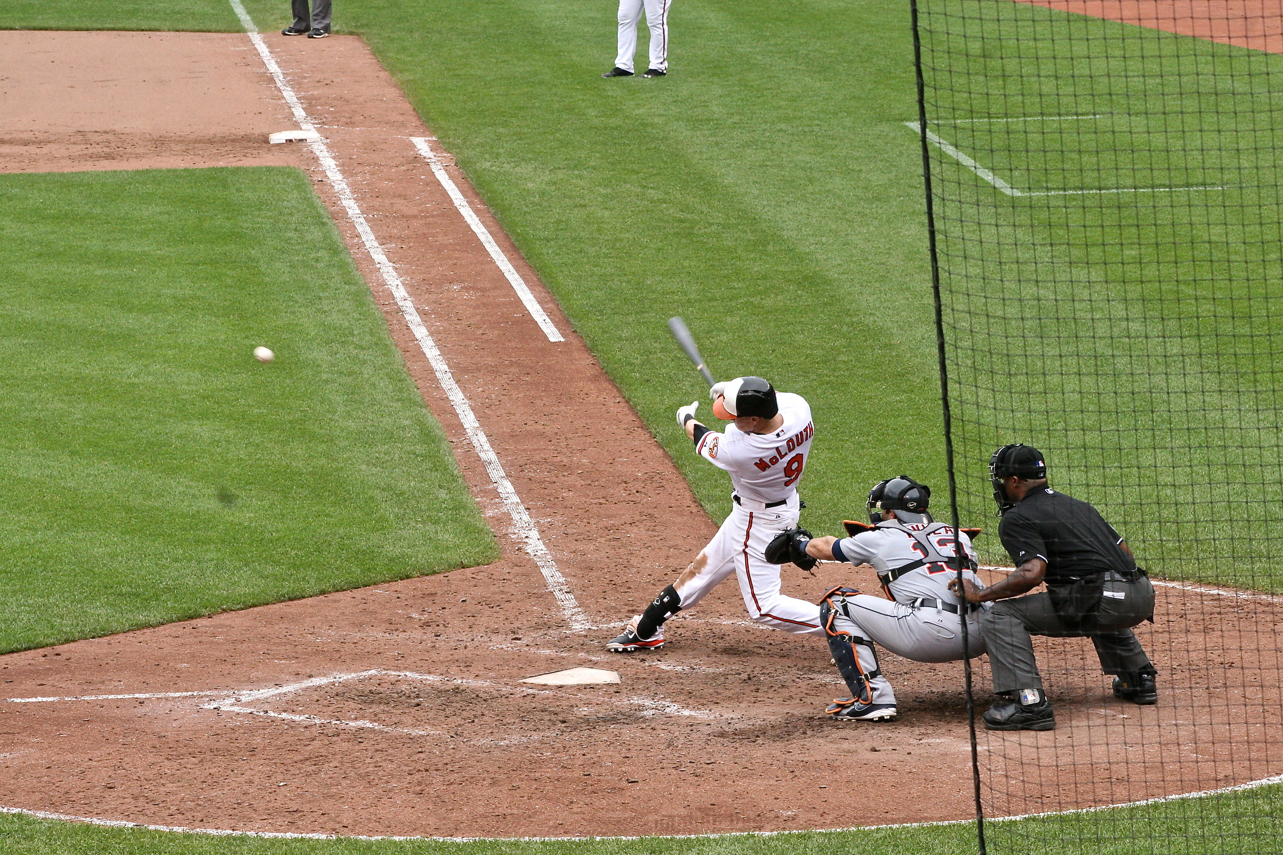 Nate McLouth knocks in the go-ahead run in the 7th