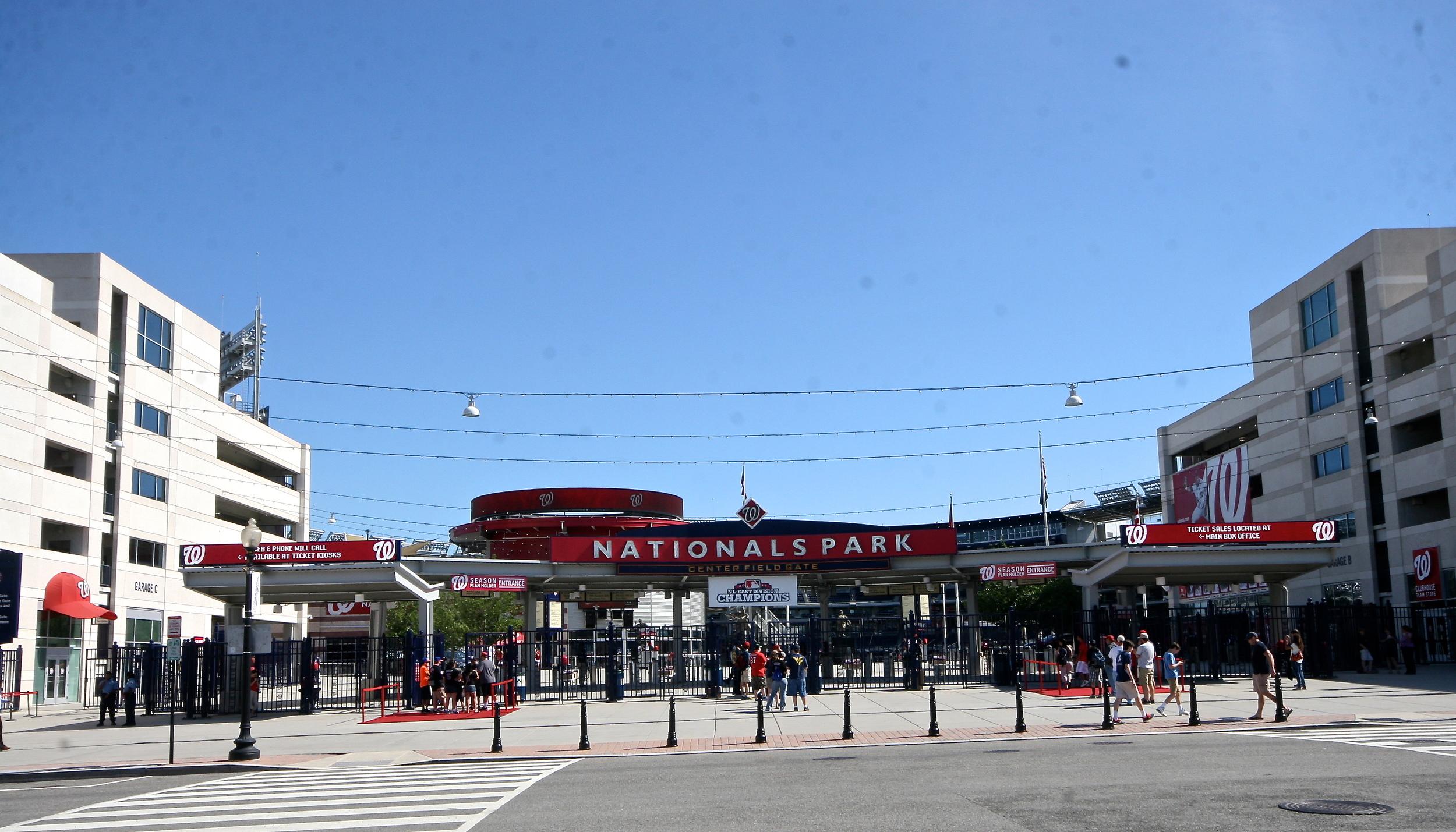 Nationals Park Center Field Gates