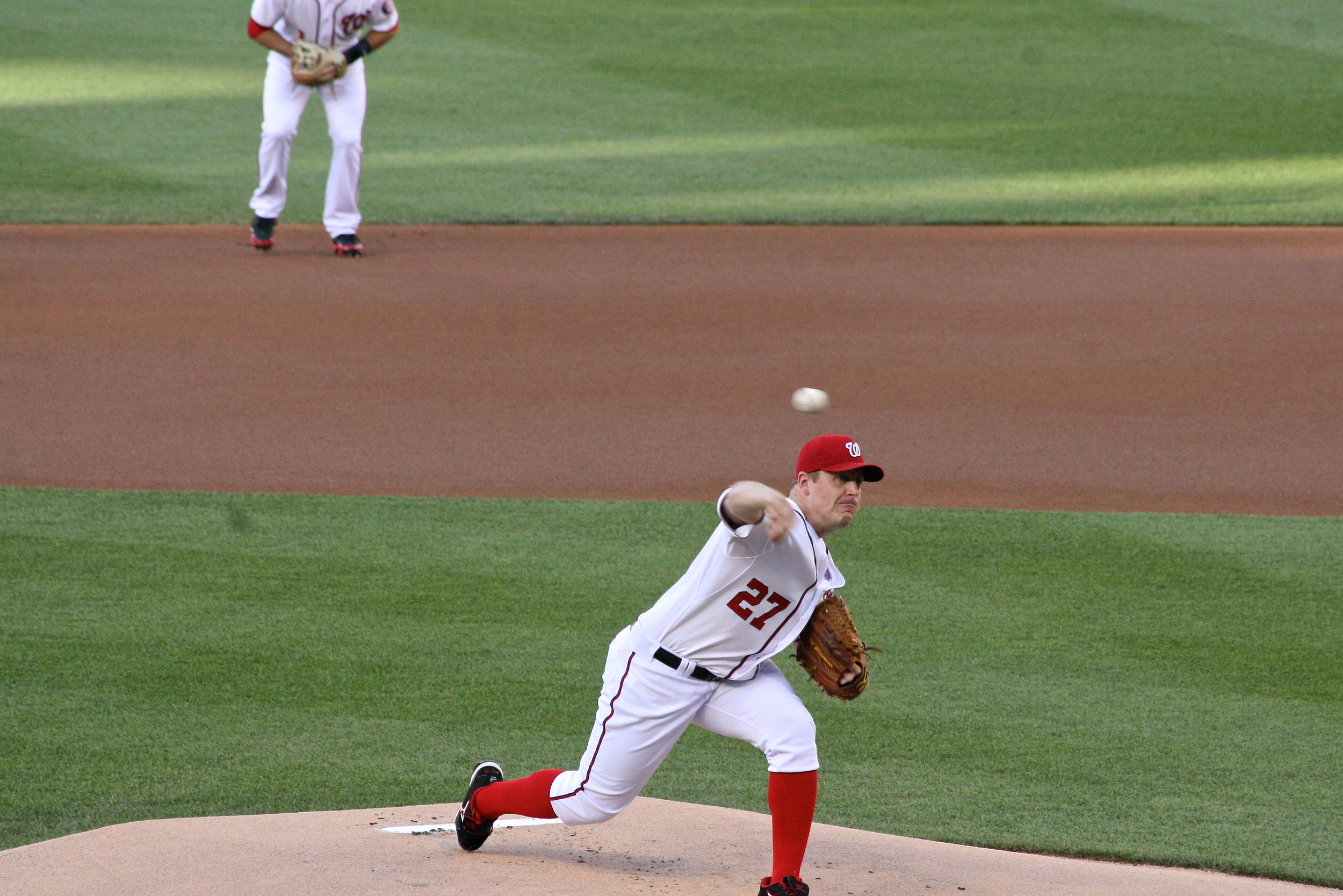 Jordan Zimmerman pitching masterfully