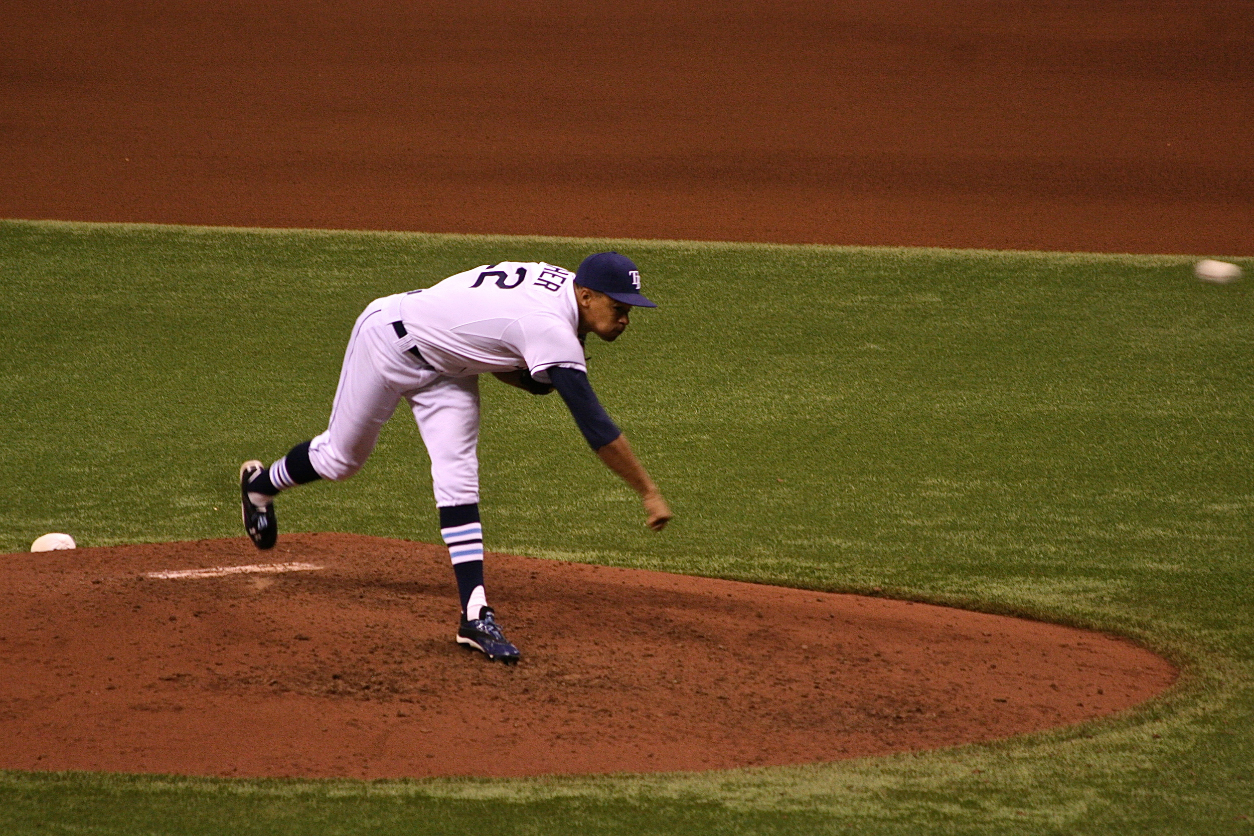 Chris Archer's first pitch at Tropicana