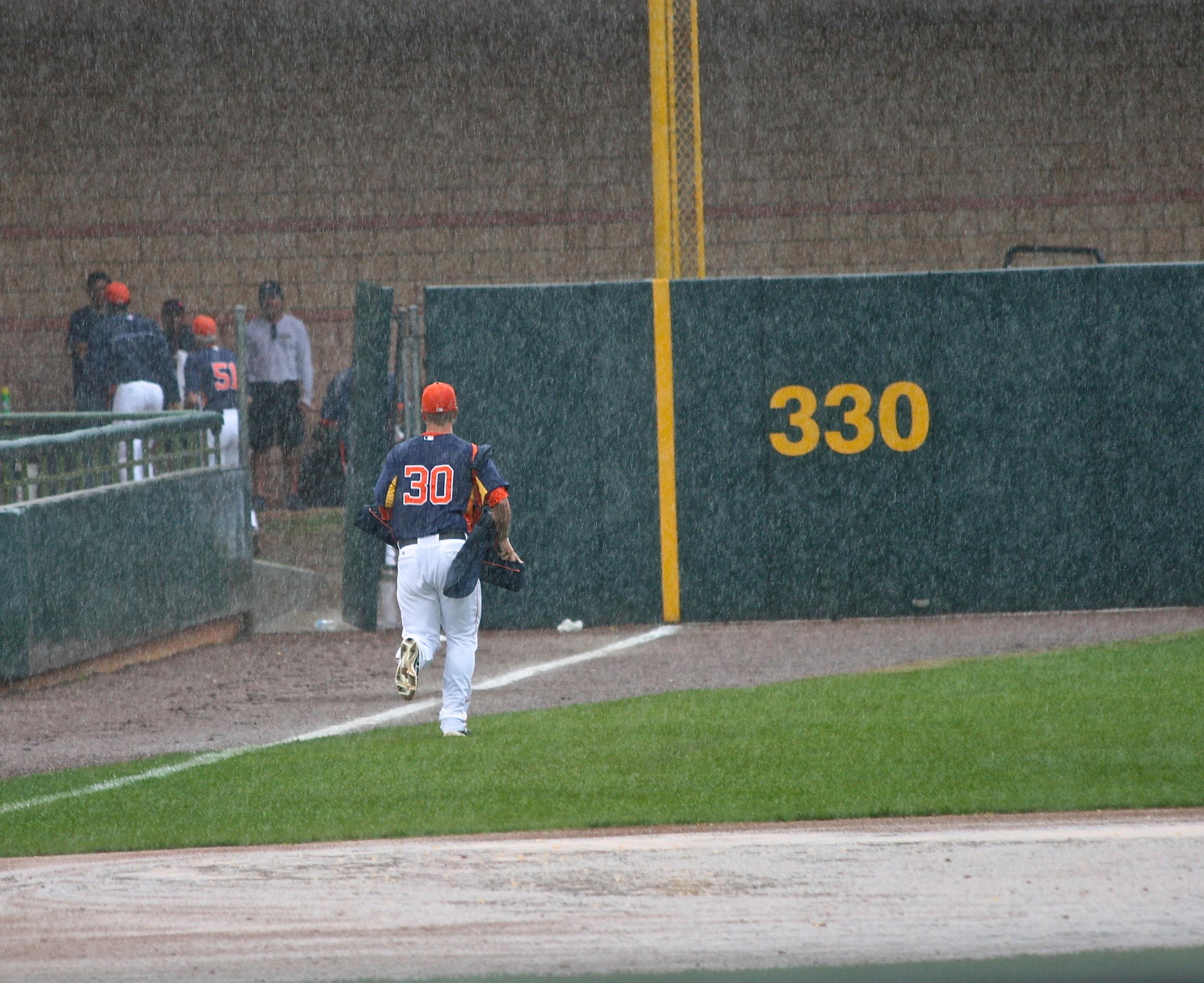 Rain out at Osceola County Stadium, home of the Houston Astros