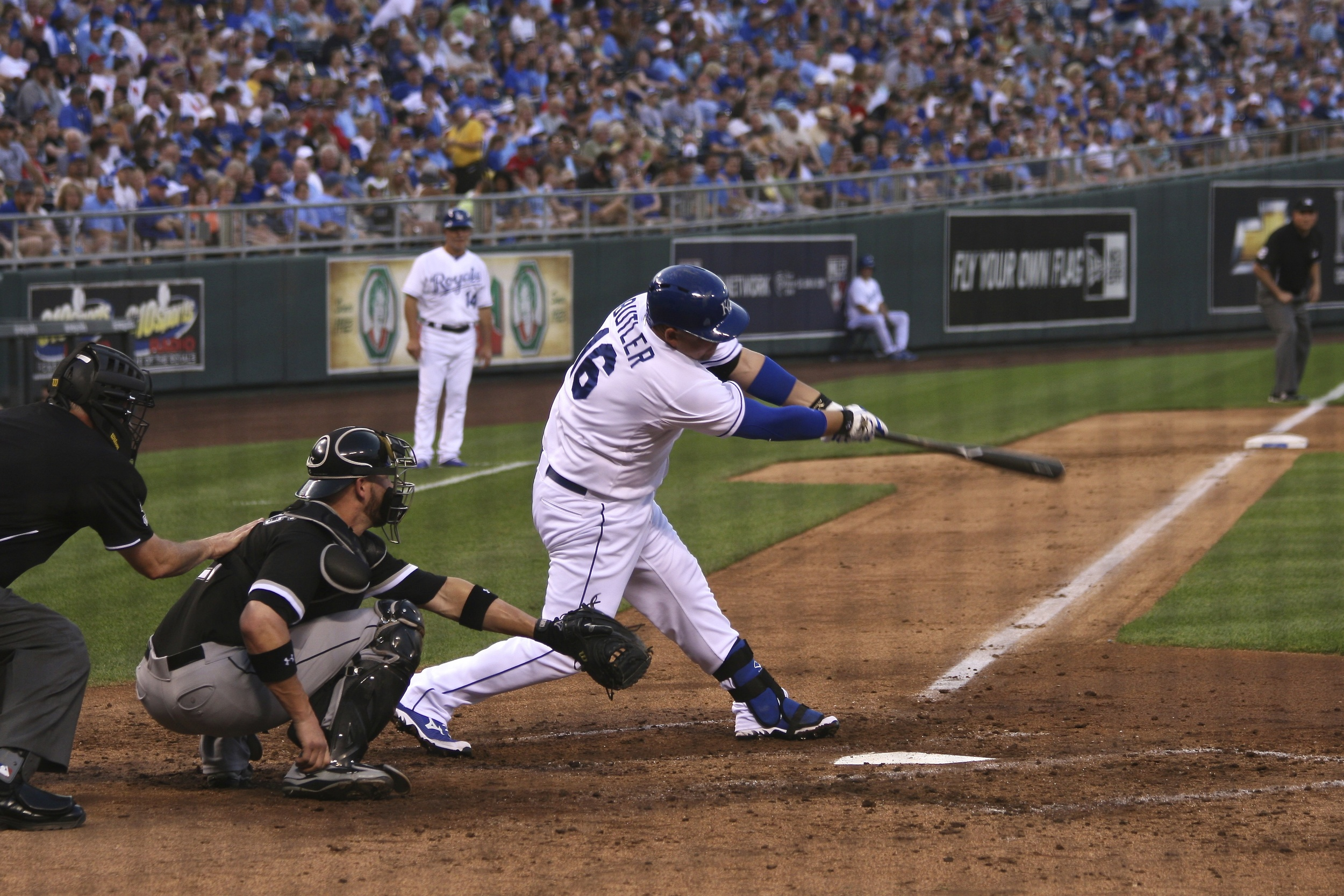 Billy Butler takes a hack
