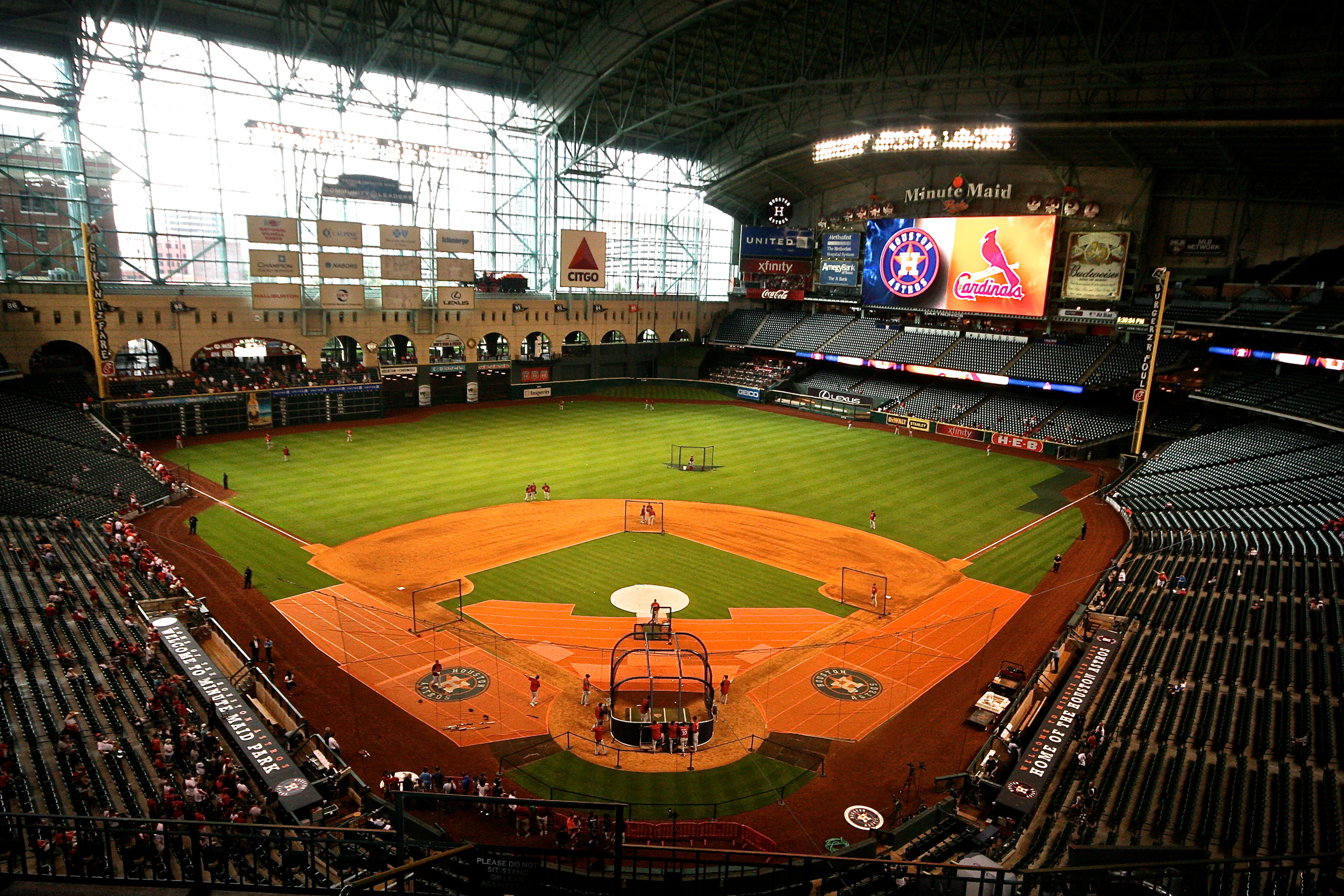 Minute Maid Park batting practice