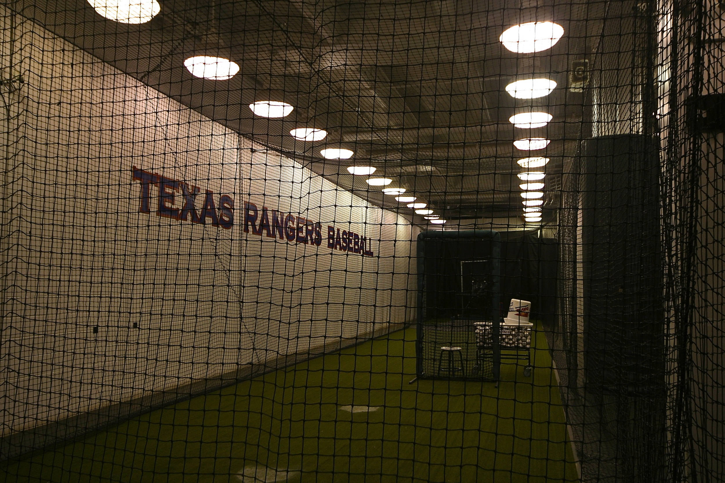 Rangers batting cages