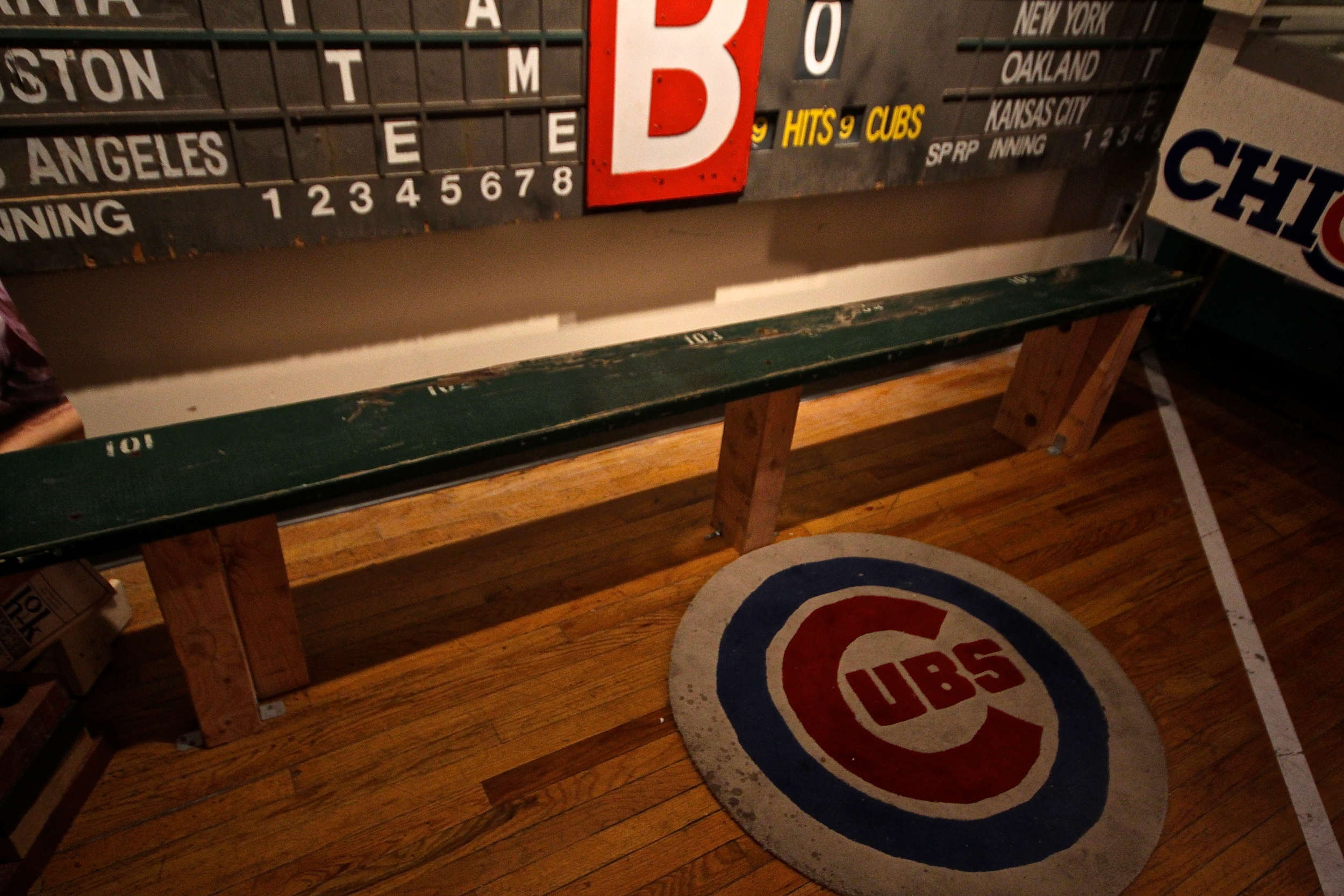 Bench from the bleachers at Wrigley