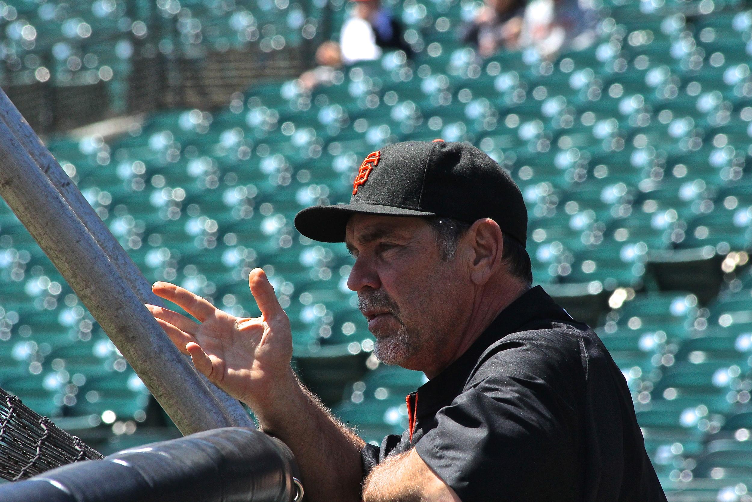 Bruce Bochy during BP