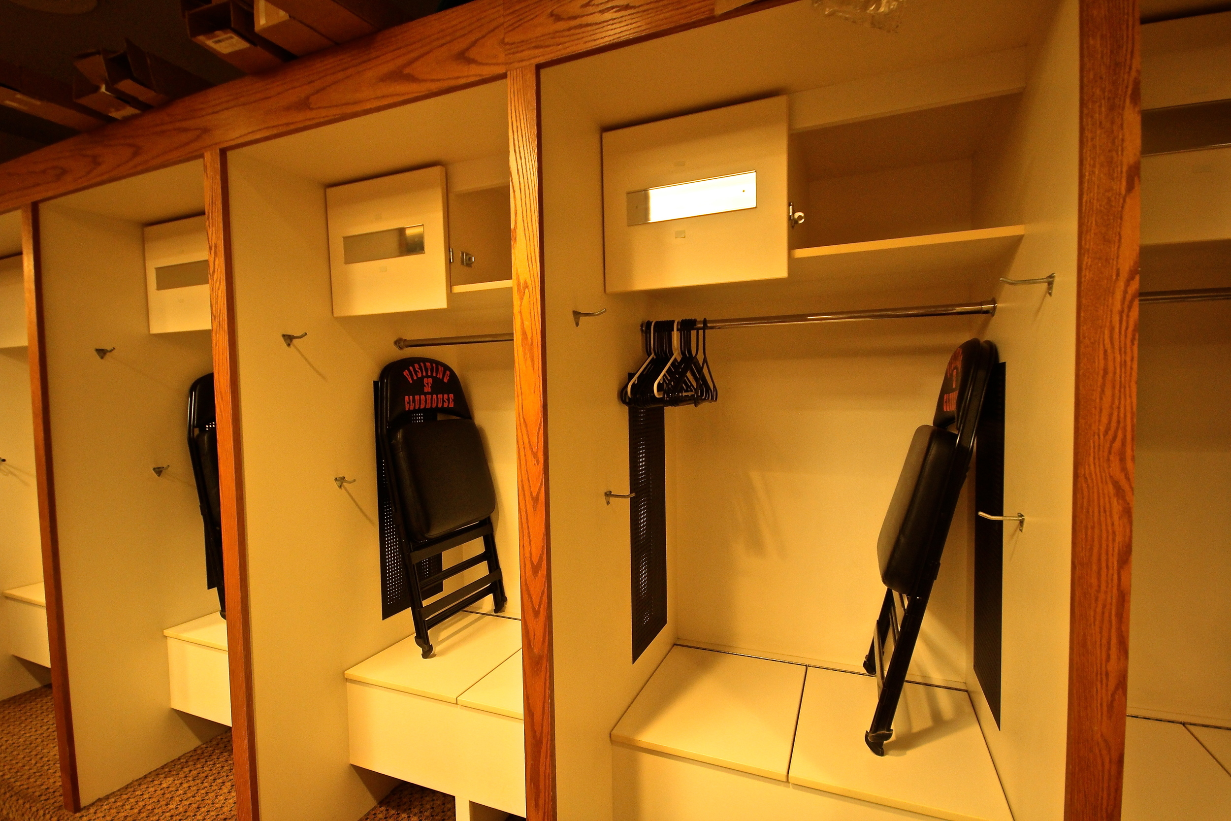 Visitor's lockers