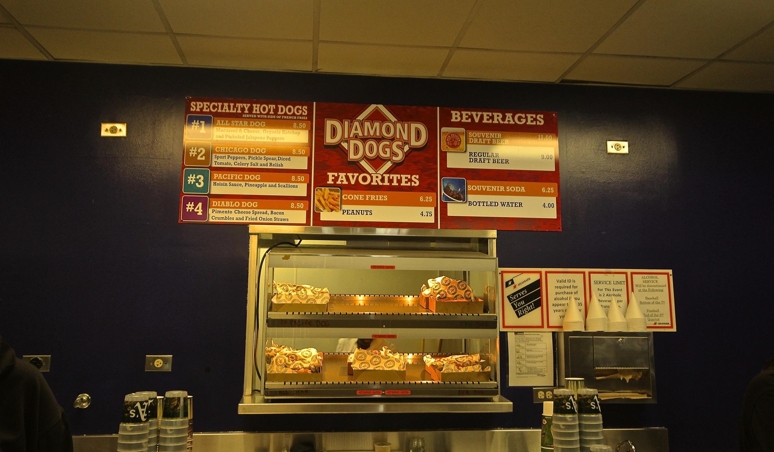 Diamond Dogs stand