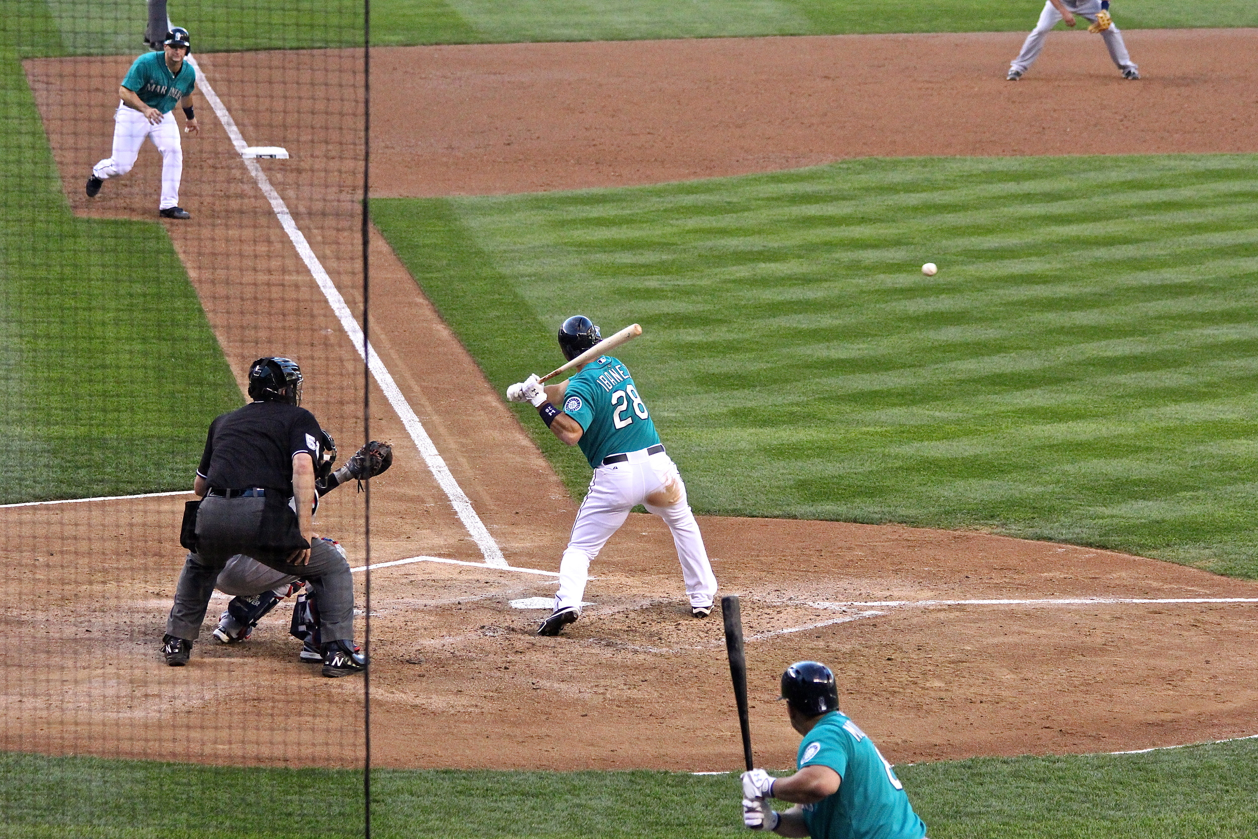Raul Ibanez at the plate