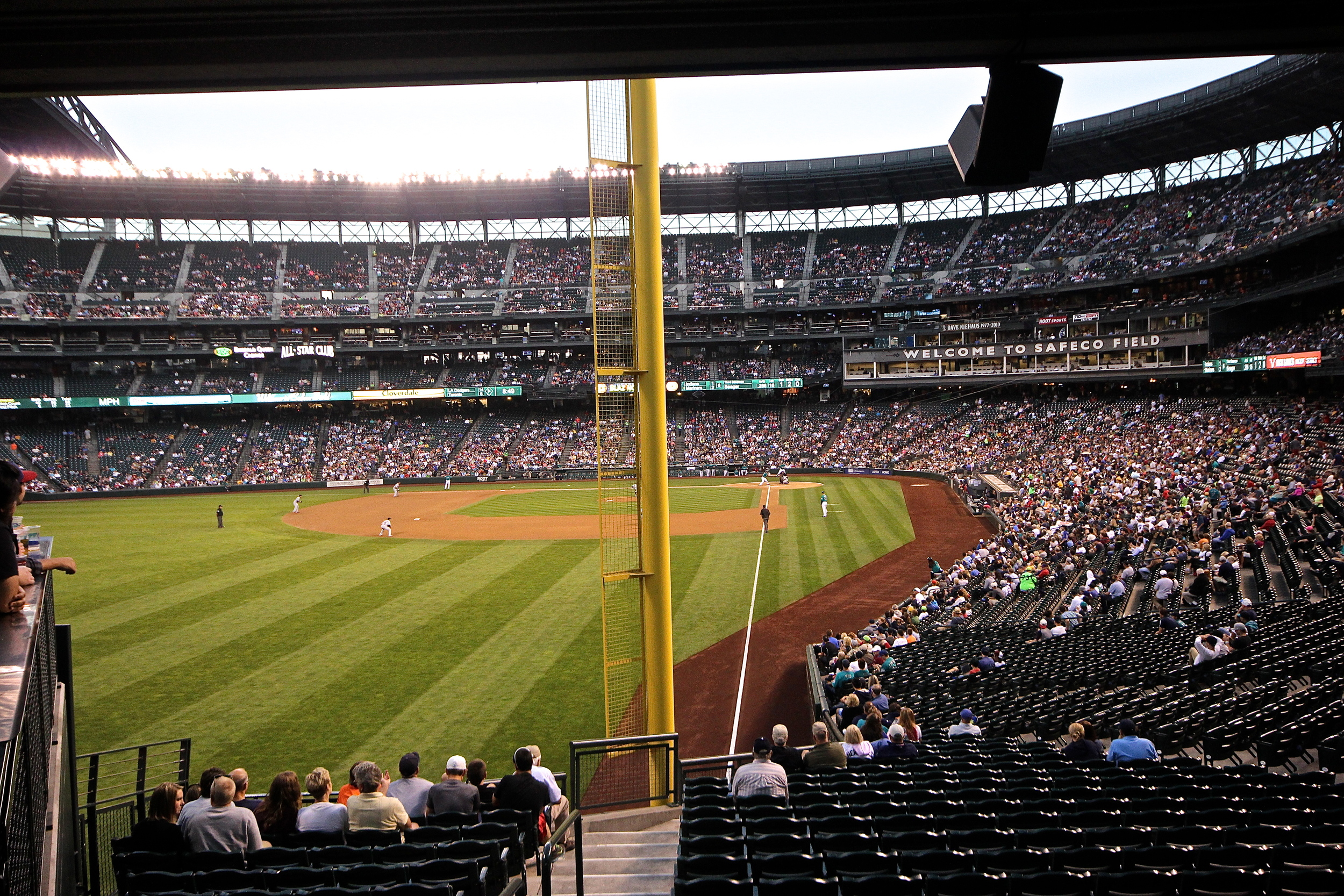 View from the left field foul pole