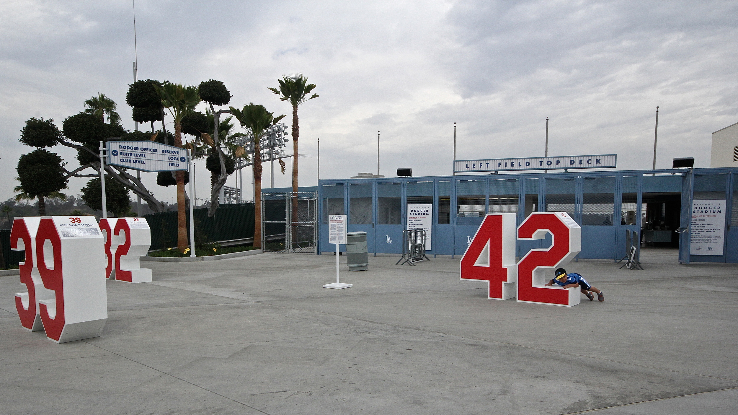 Outside of the left field gates