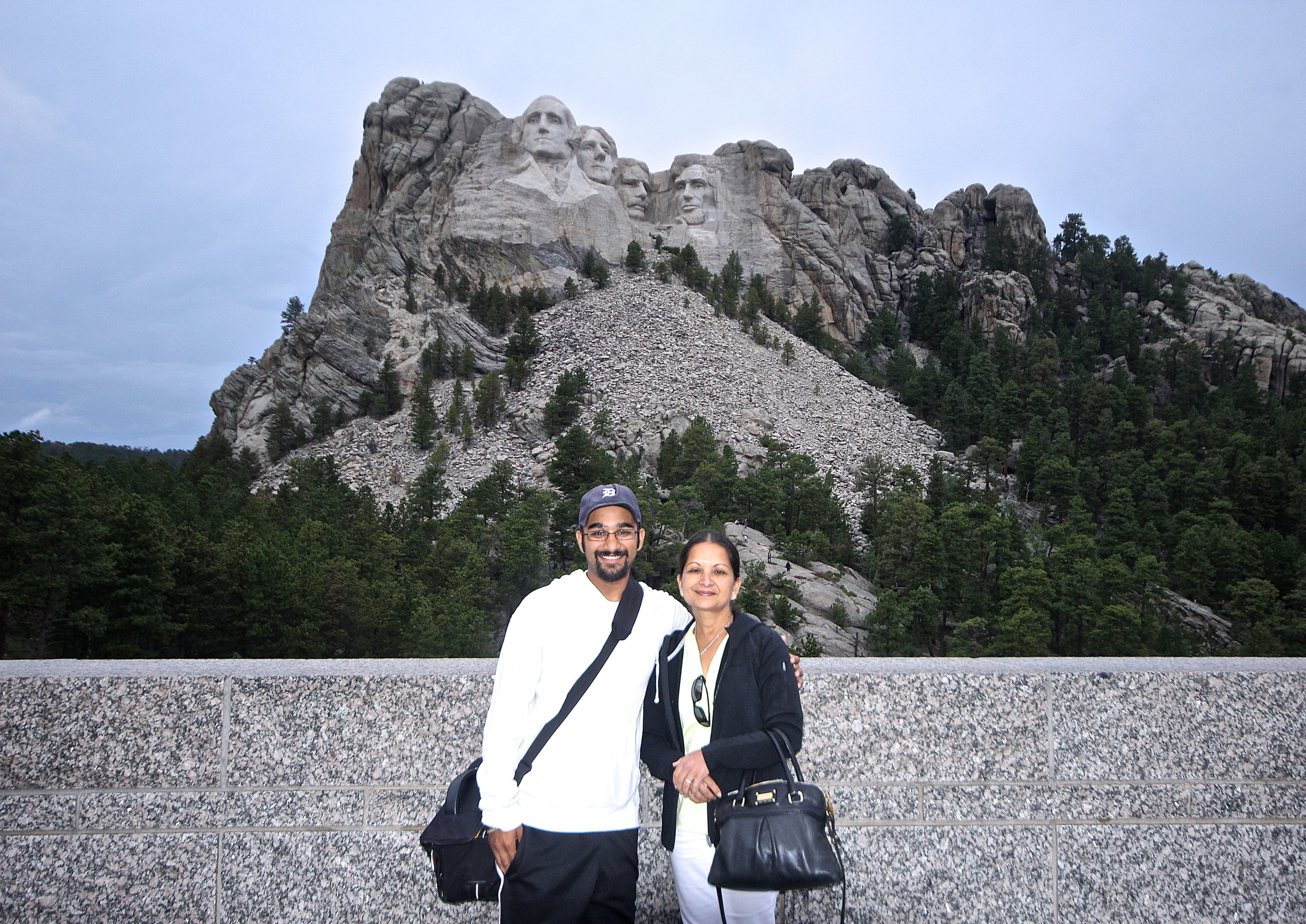 Me and mom at Mount Rushmore