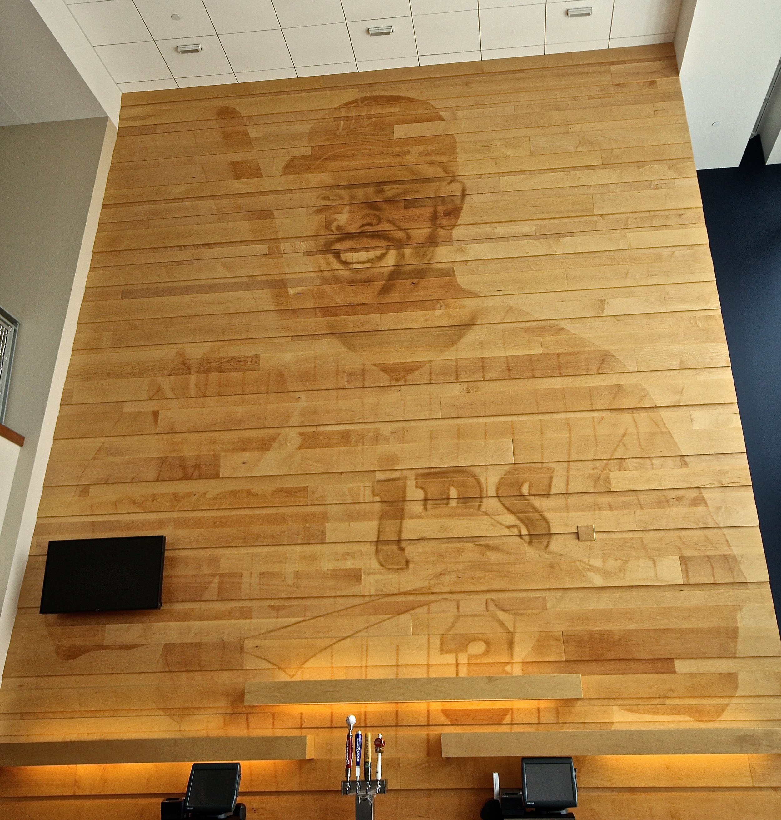 Kirby Puckett in wood panelling