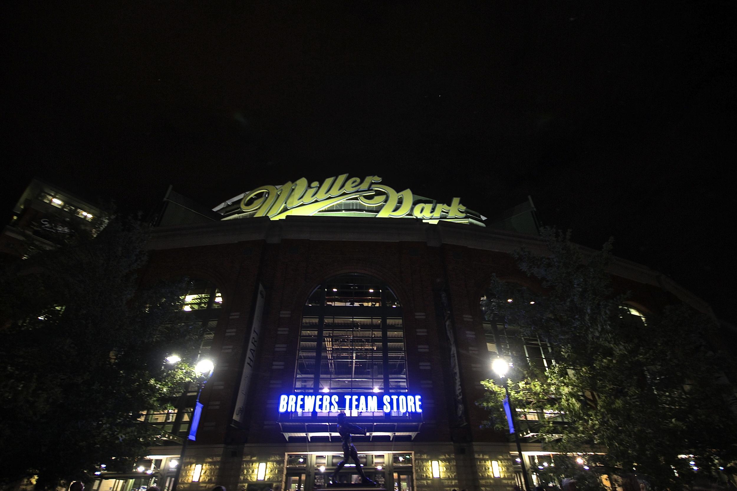Miller Park at night