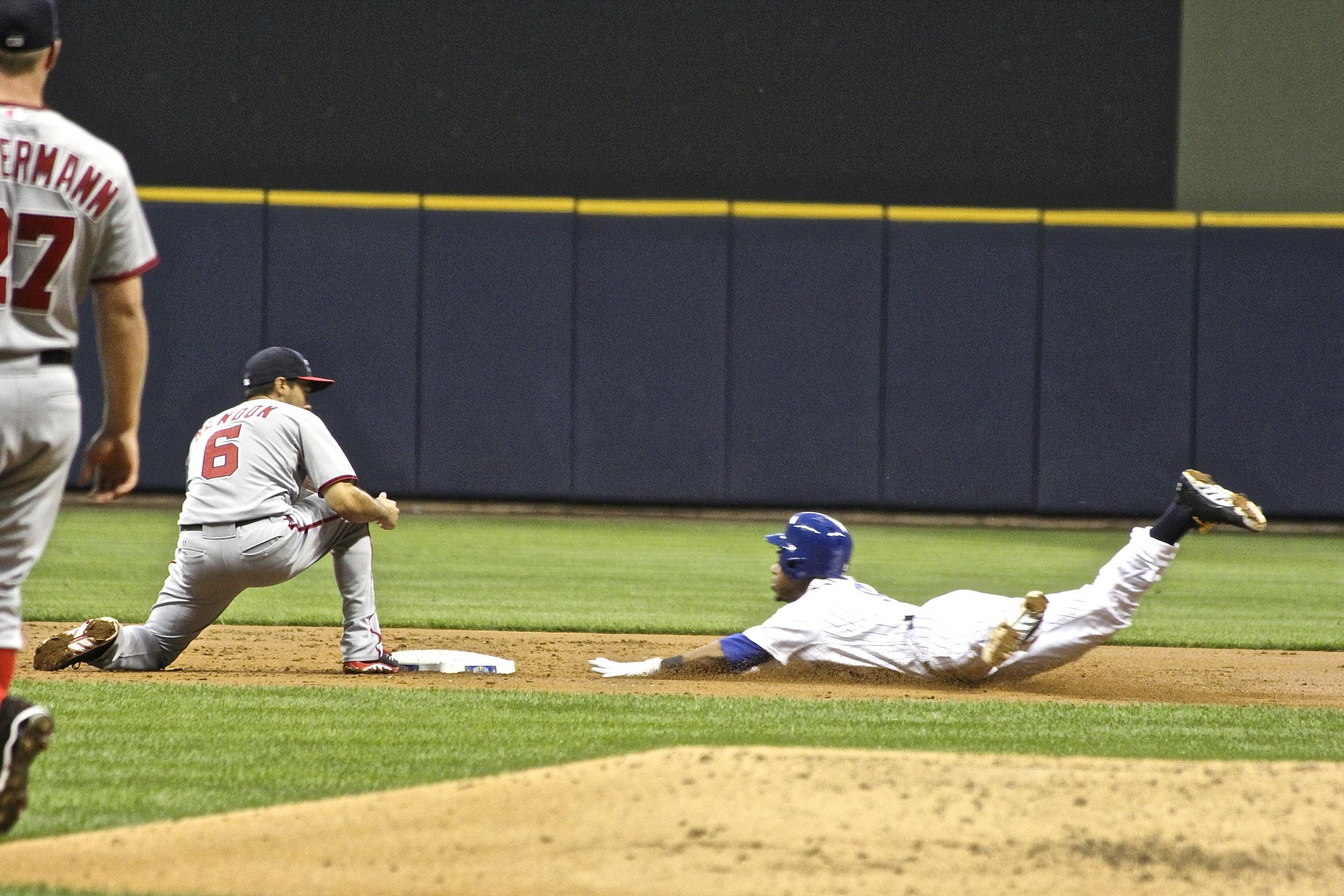 Jean Segura slides into second