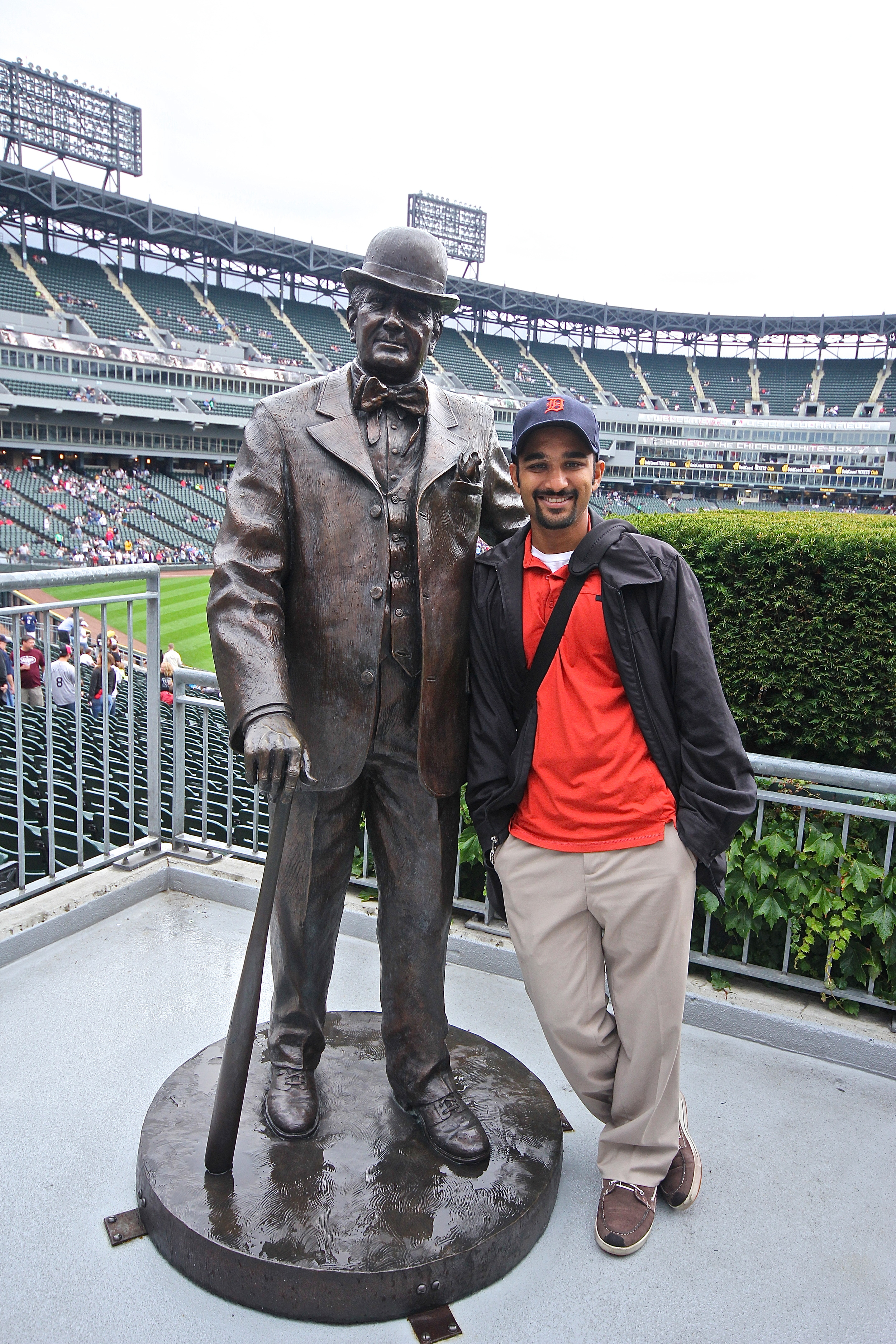 Me and Charles Comiskey
