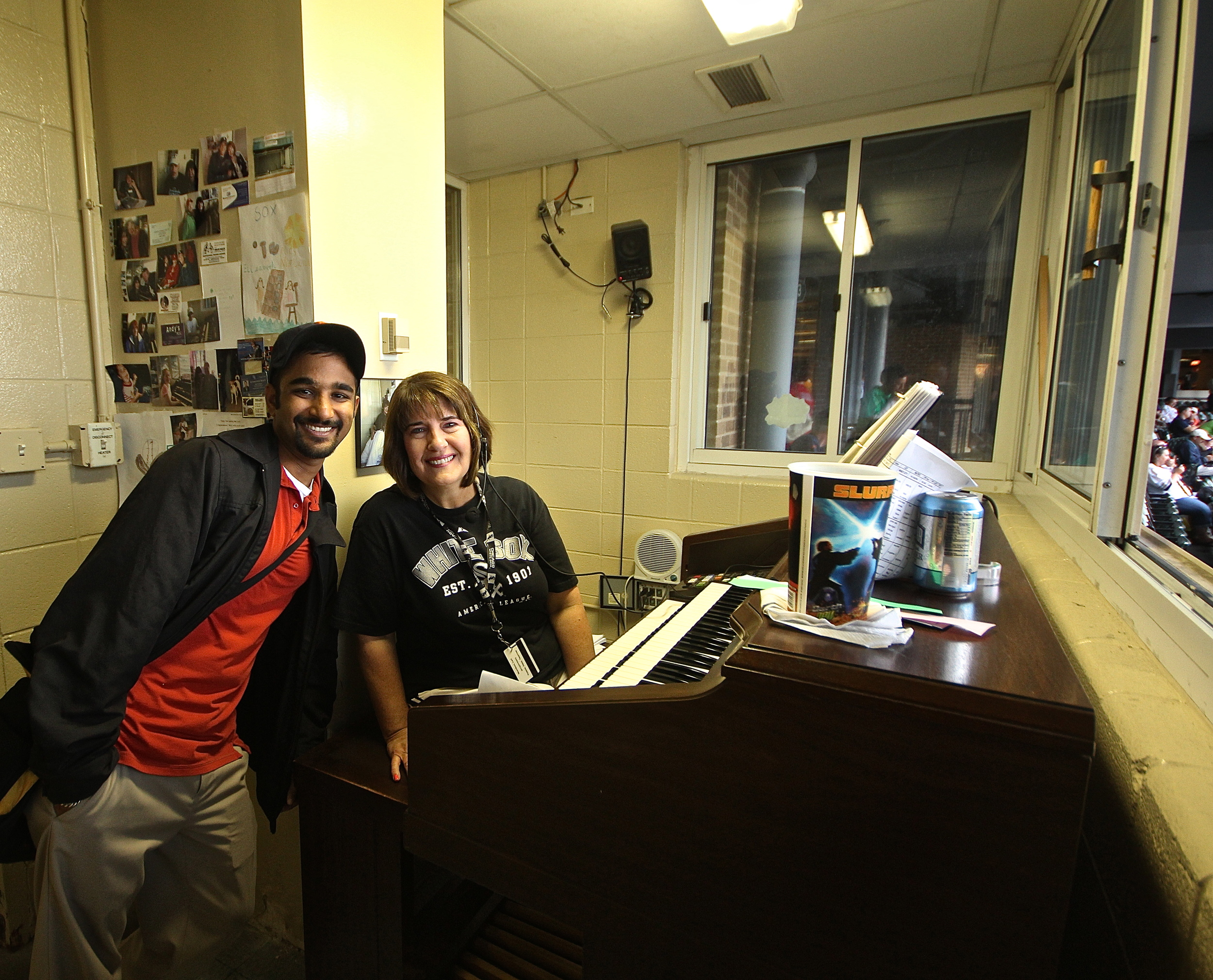 Me and Lori the organist