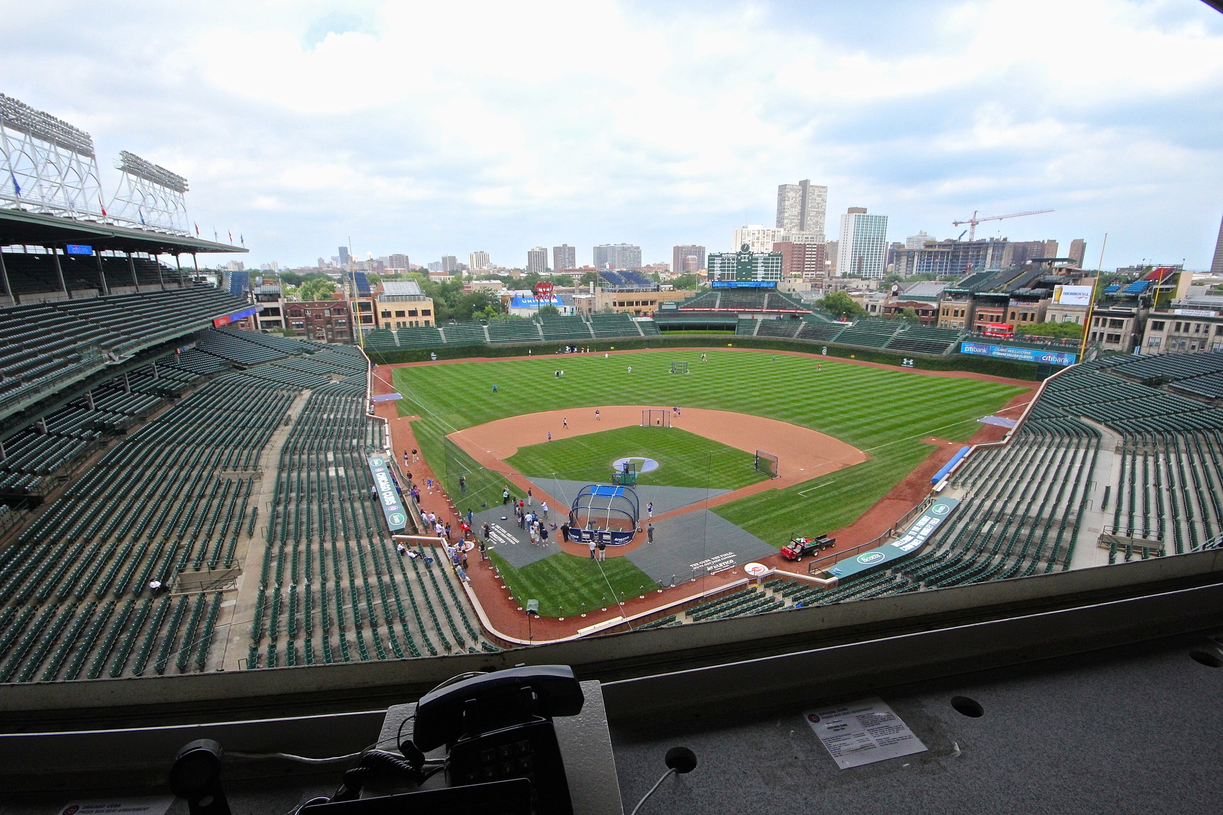 Wrigley view from the press box