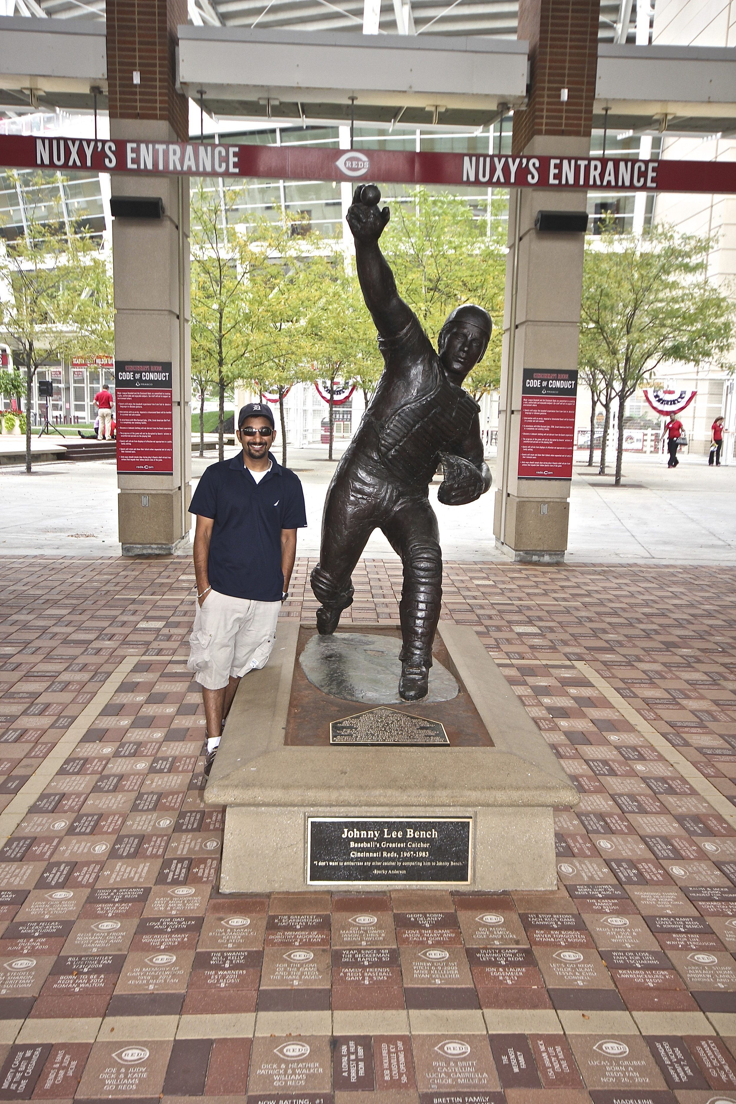 Me and Johnny Bench