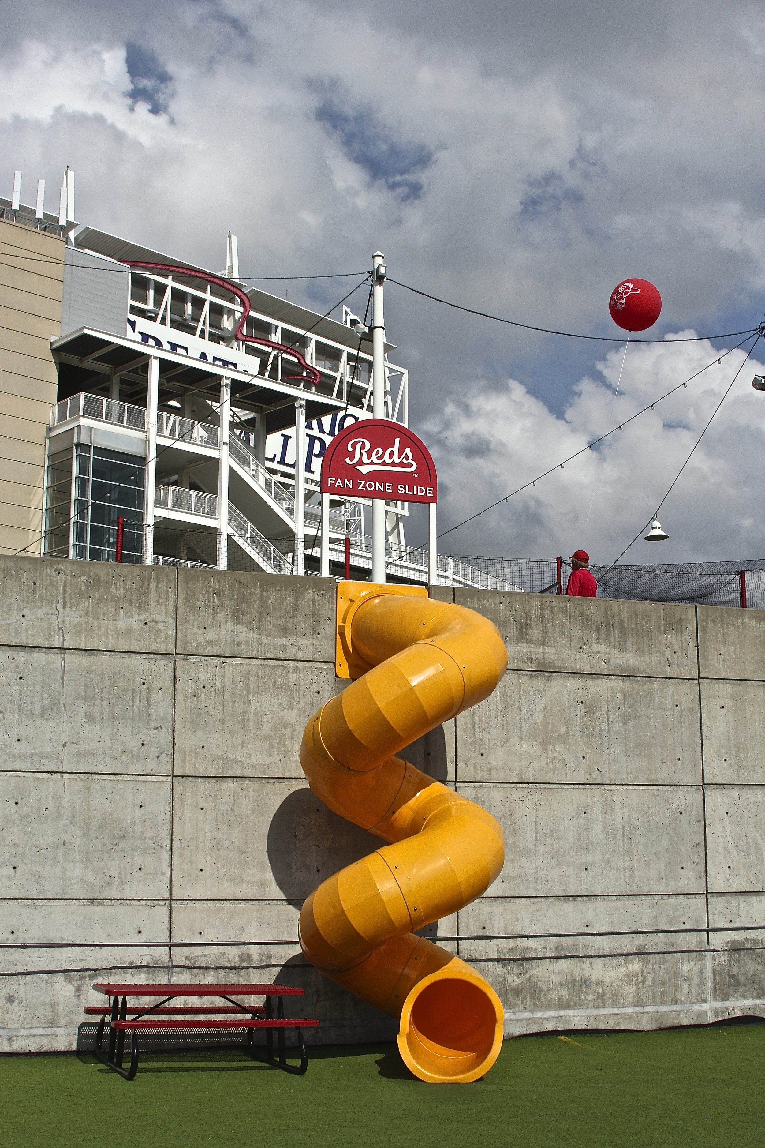 Awesome slide down to the batting cages