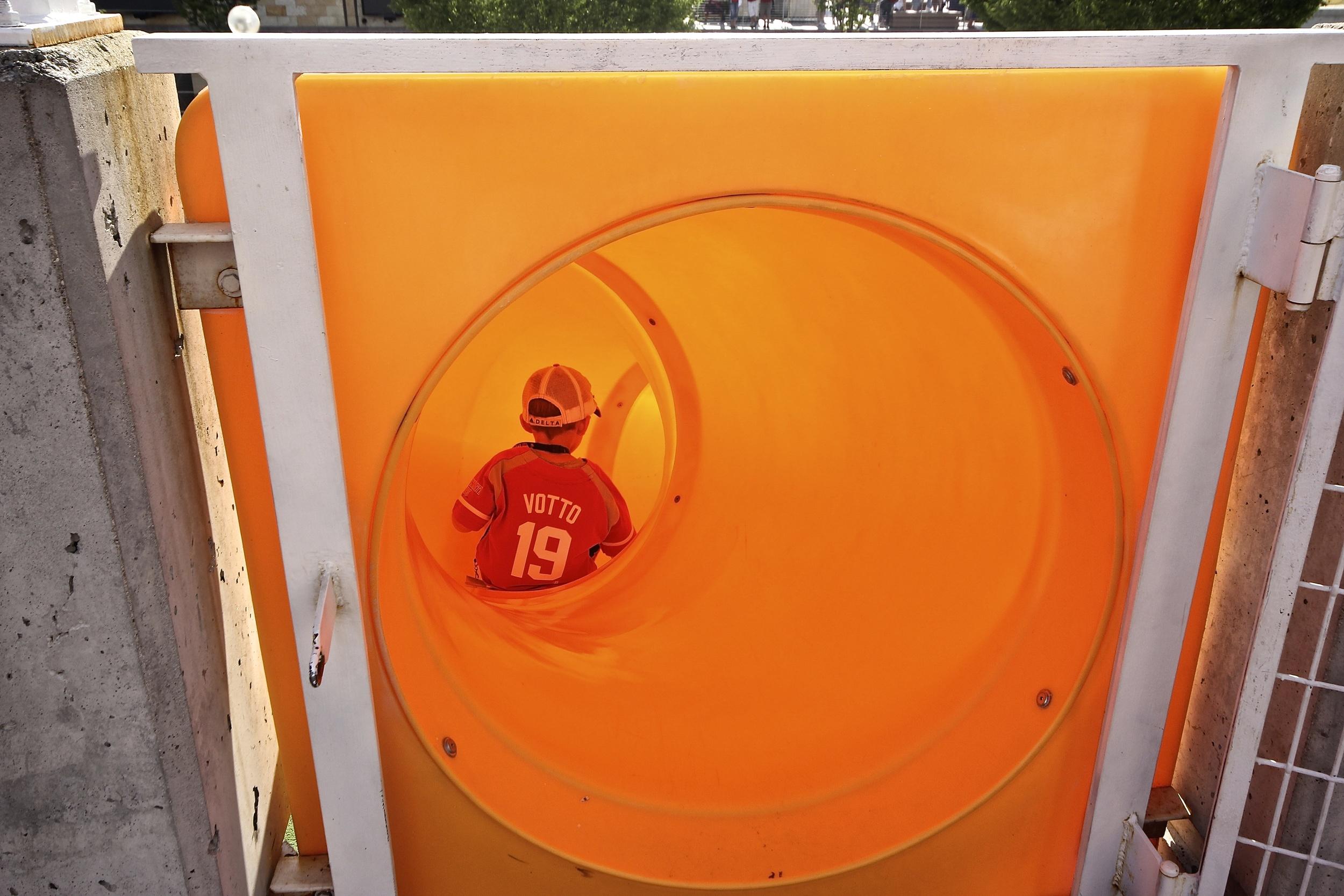 Kid on the slide