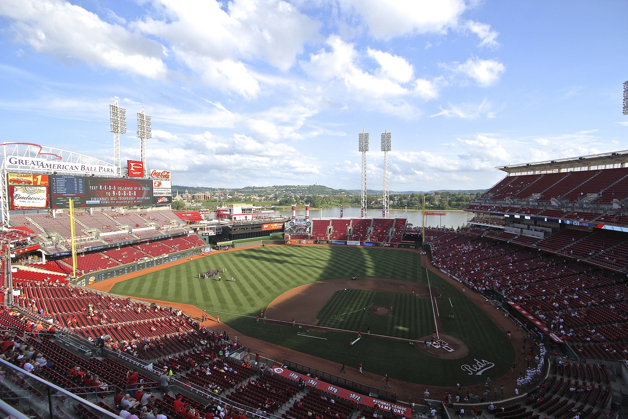 Great American Ballpark in the shadows