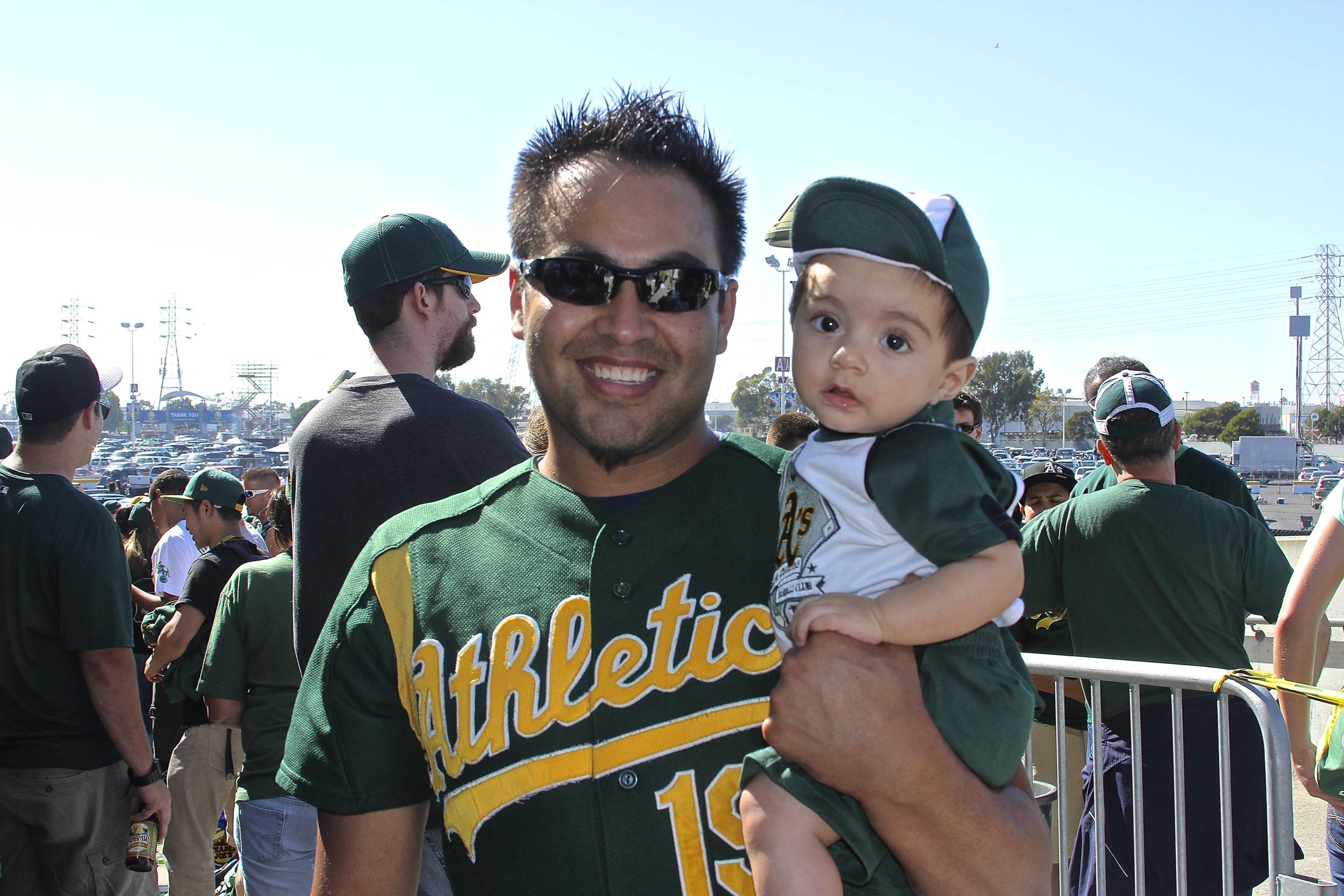Rafael and his son outside of O.Co