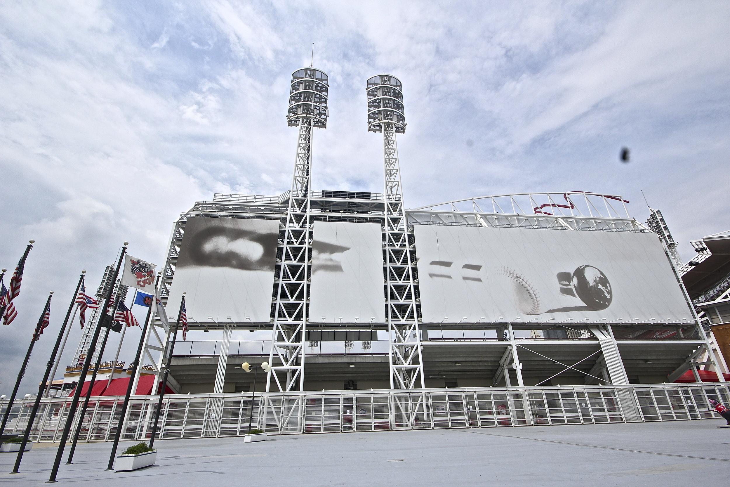 "Pete Rose's bat ""outside"" of the stadium"