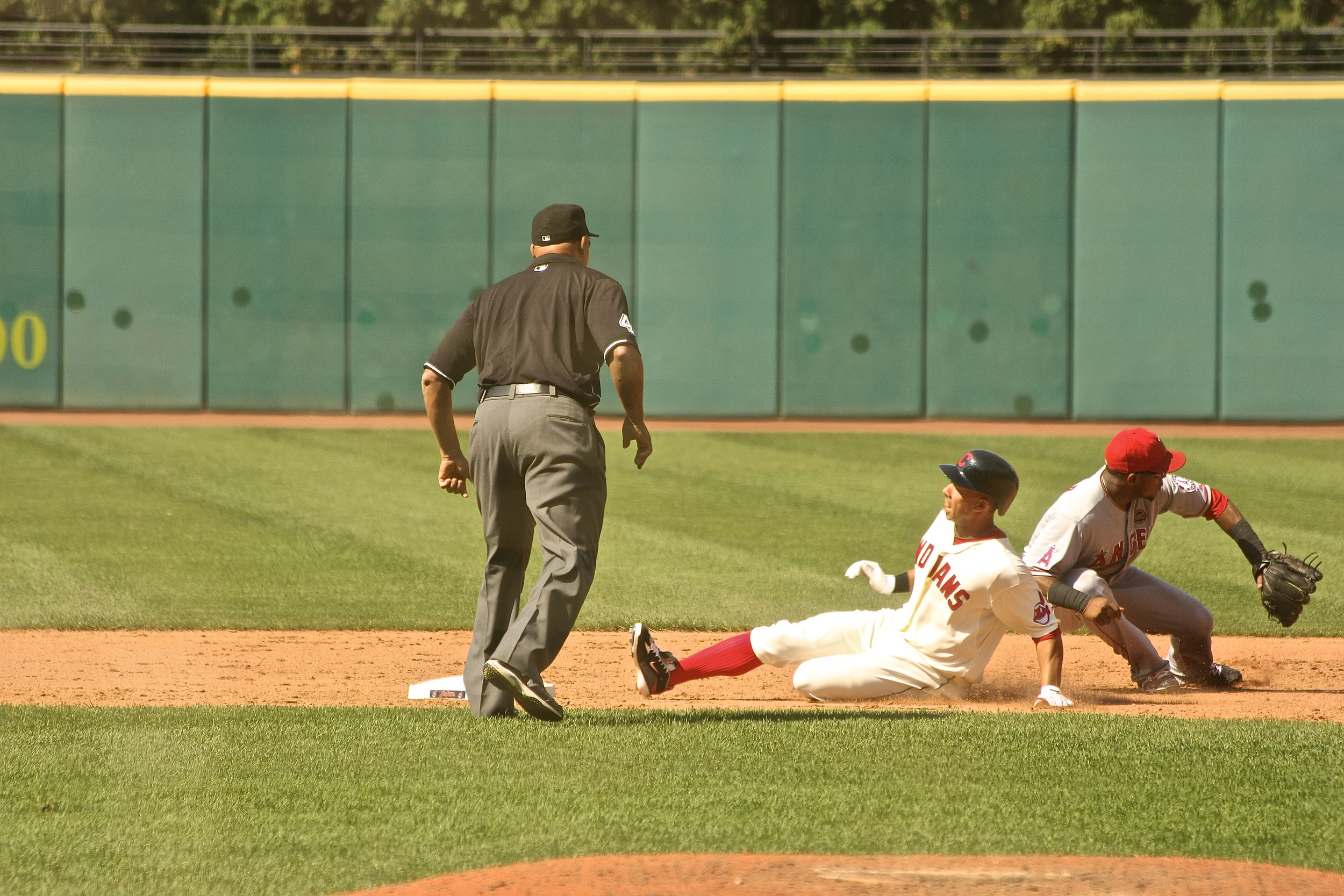 Michael Brantley safe at second